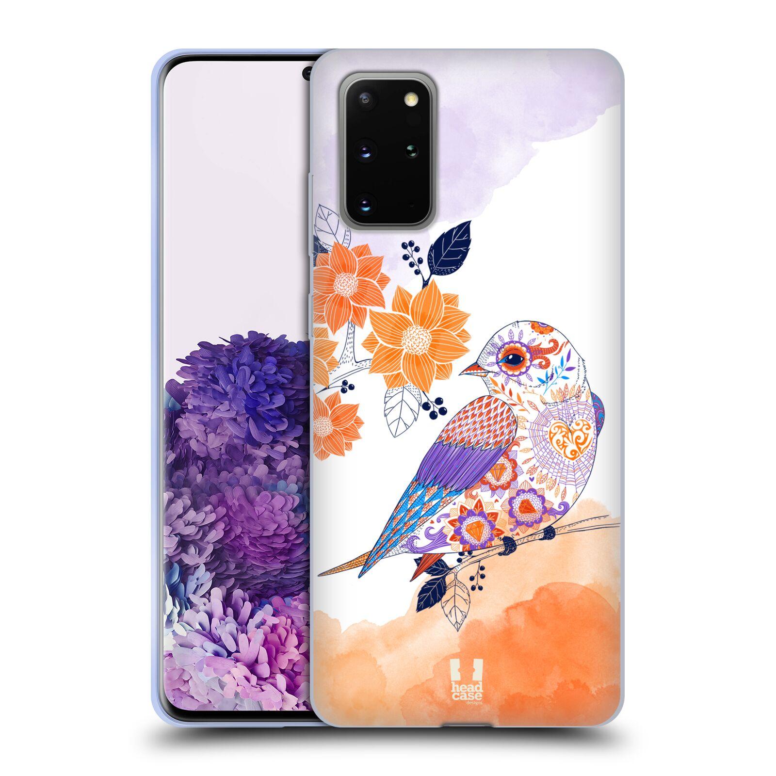 Silikonové pouzdro na mobil Samsung Galaxy S20 Plus - Head Case - PTÁČEK TANGERINE