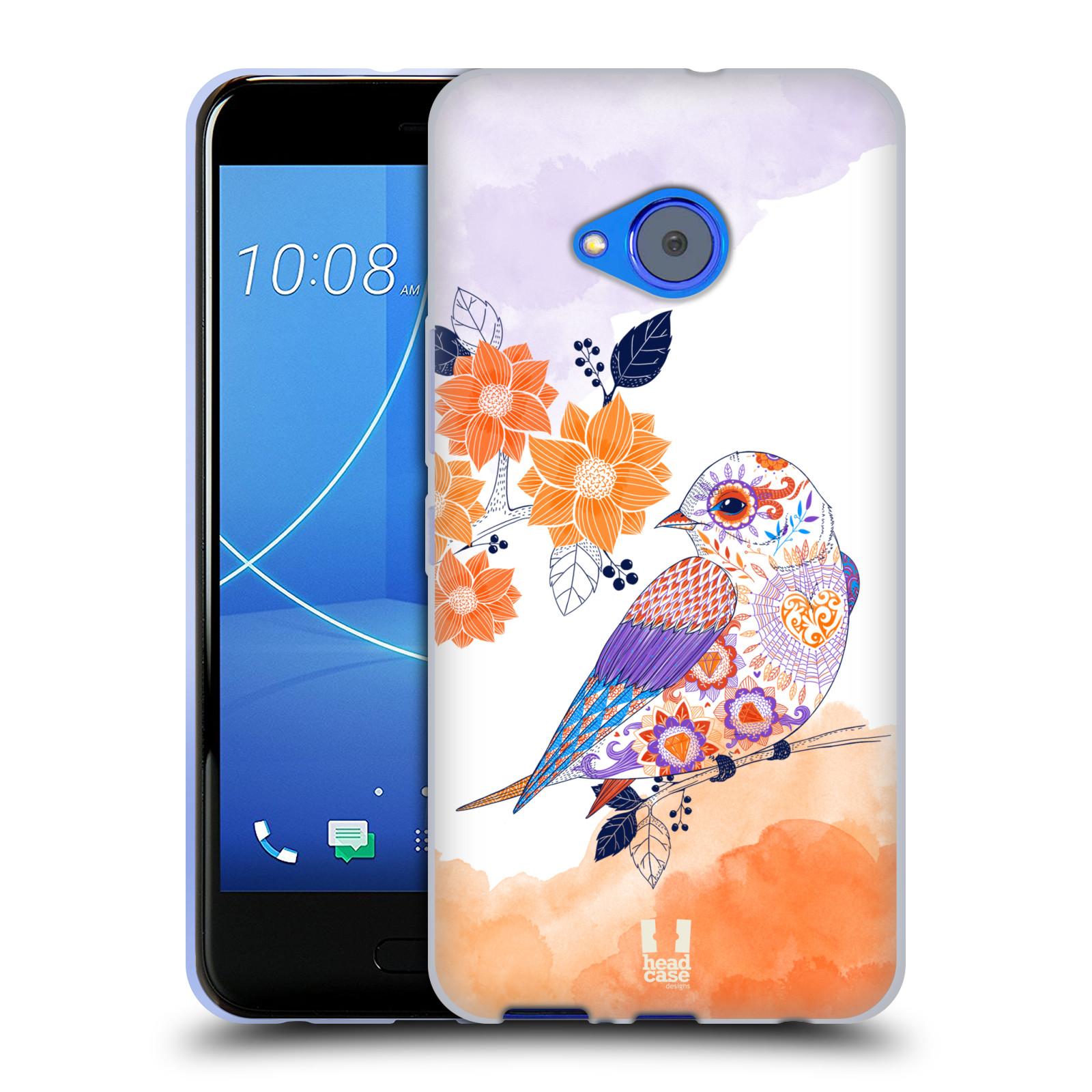 Silikonové pouzdro na mobil HTC U11 Life - Head Case - PTÁČEK TANGERINE