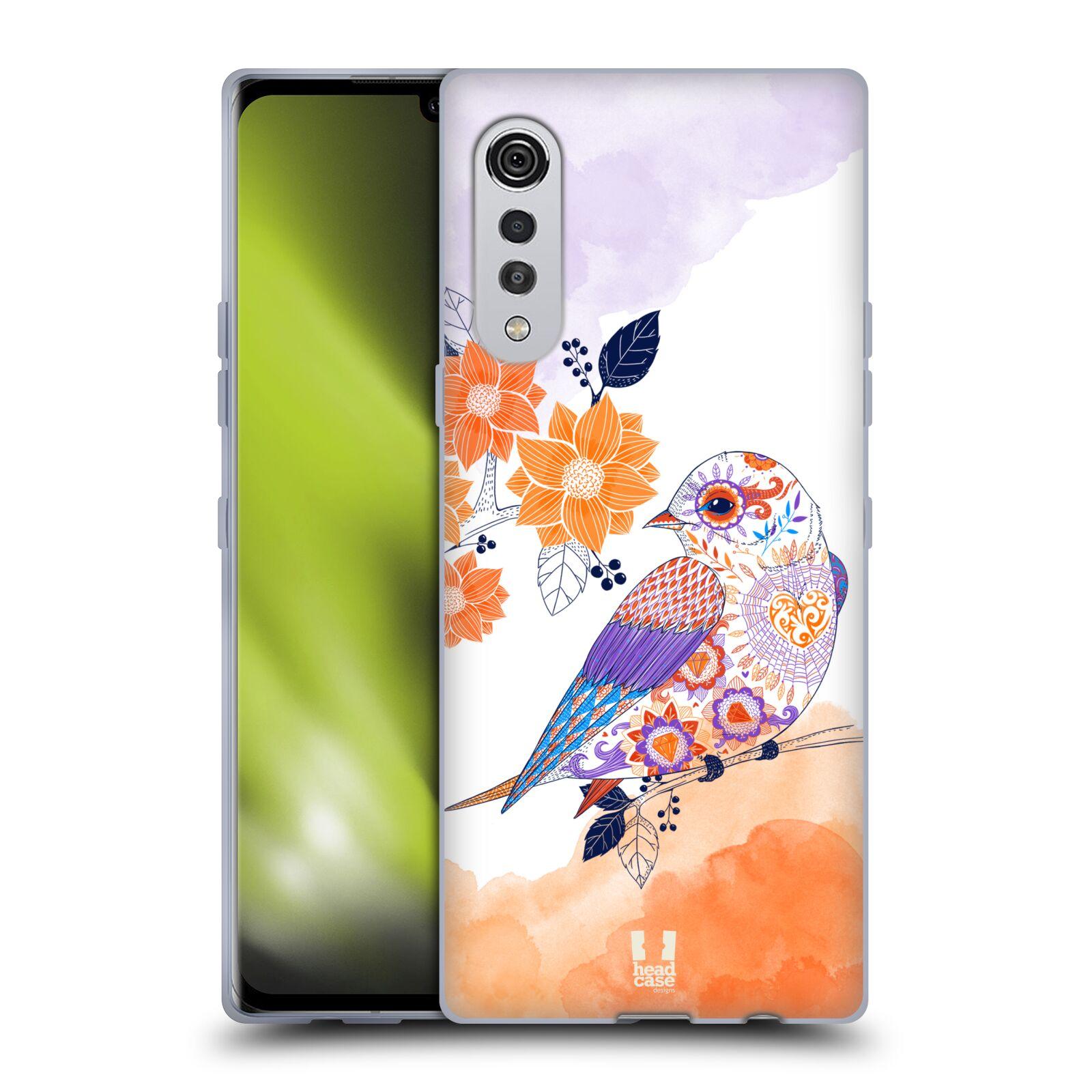 Silikonové pouzdro na mobil LG Velvet - Head Case - PTÁČEK TANGERINE