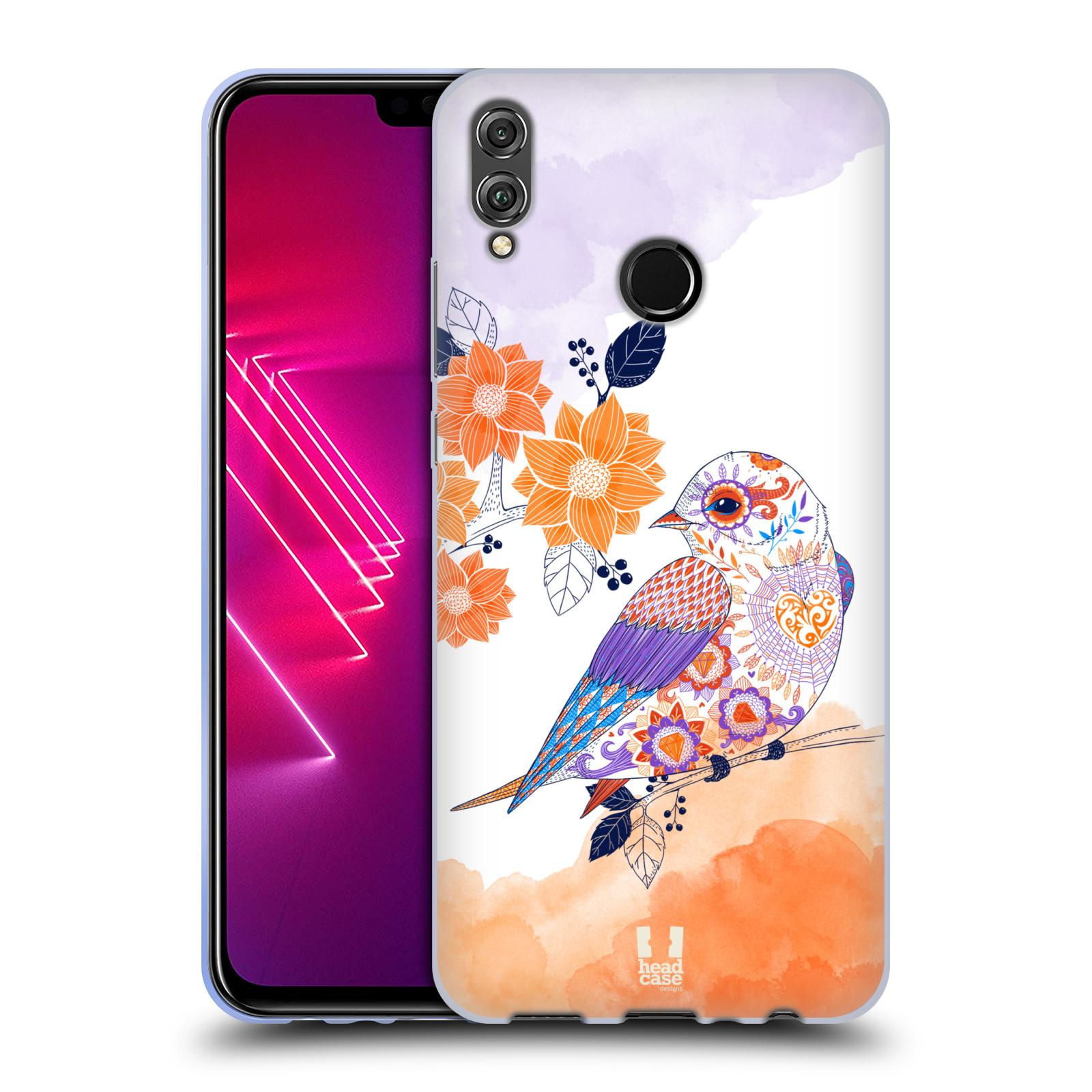 Silikonové pouzdro na mobil Honor View 10 Lite - Head Case - PTÁČEK TANGERINE
