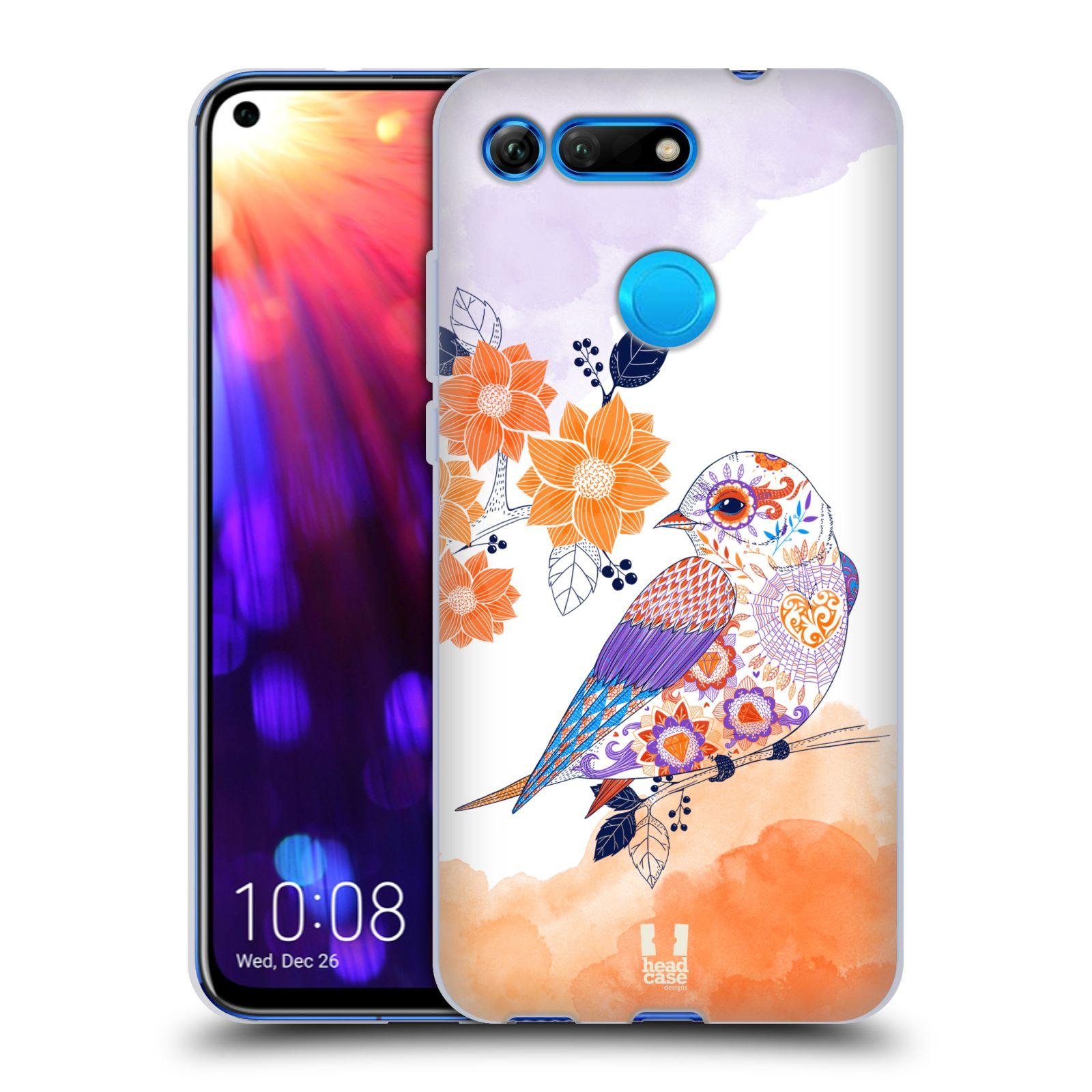Silikonové pouzdro na mobil Honor View 20 - Head Case - PTÁČEK TANGERINE