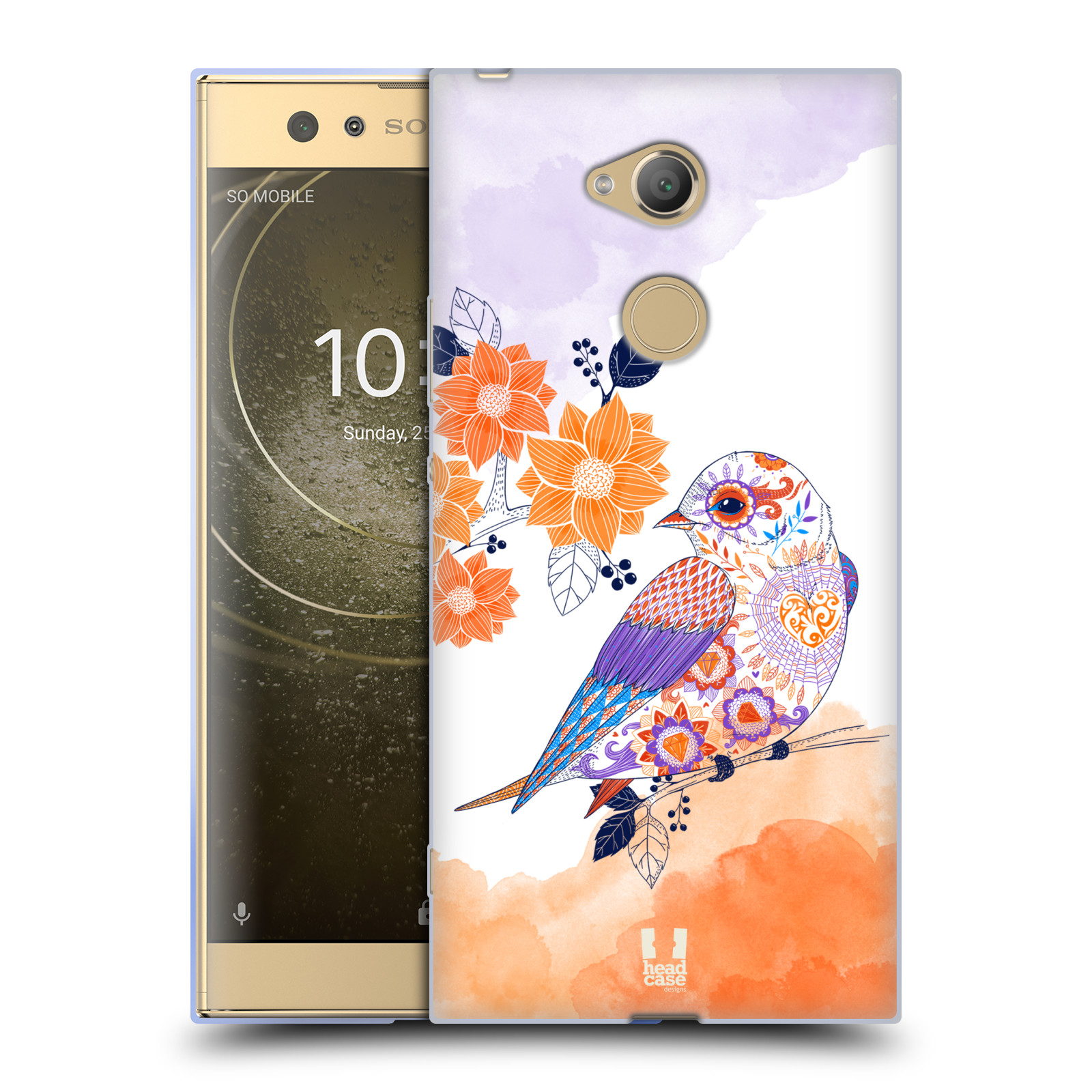 Silikonové pouzdro na mobil Sony Xperia XA2 Ultra - Head Case - PTÁČEK TANGERINE