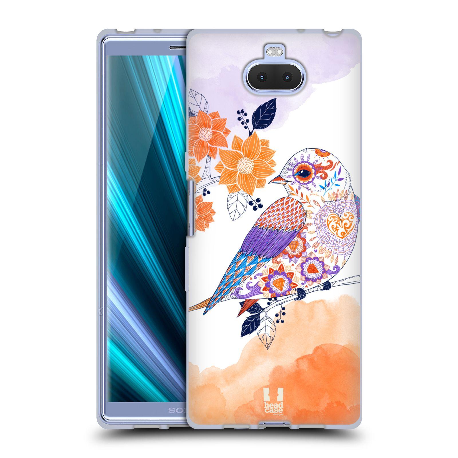 Silikonové pouzdro na mobil Sony Xperia 10 - Head Case - PTÁČEK TANGERINE