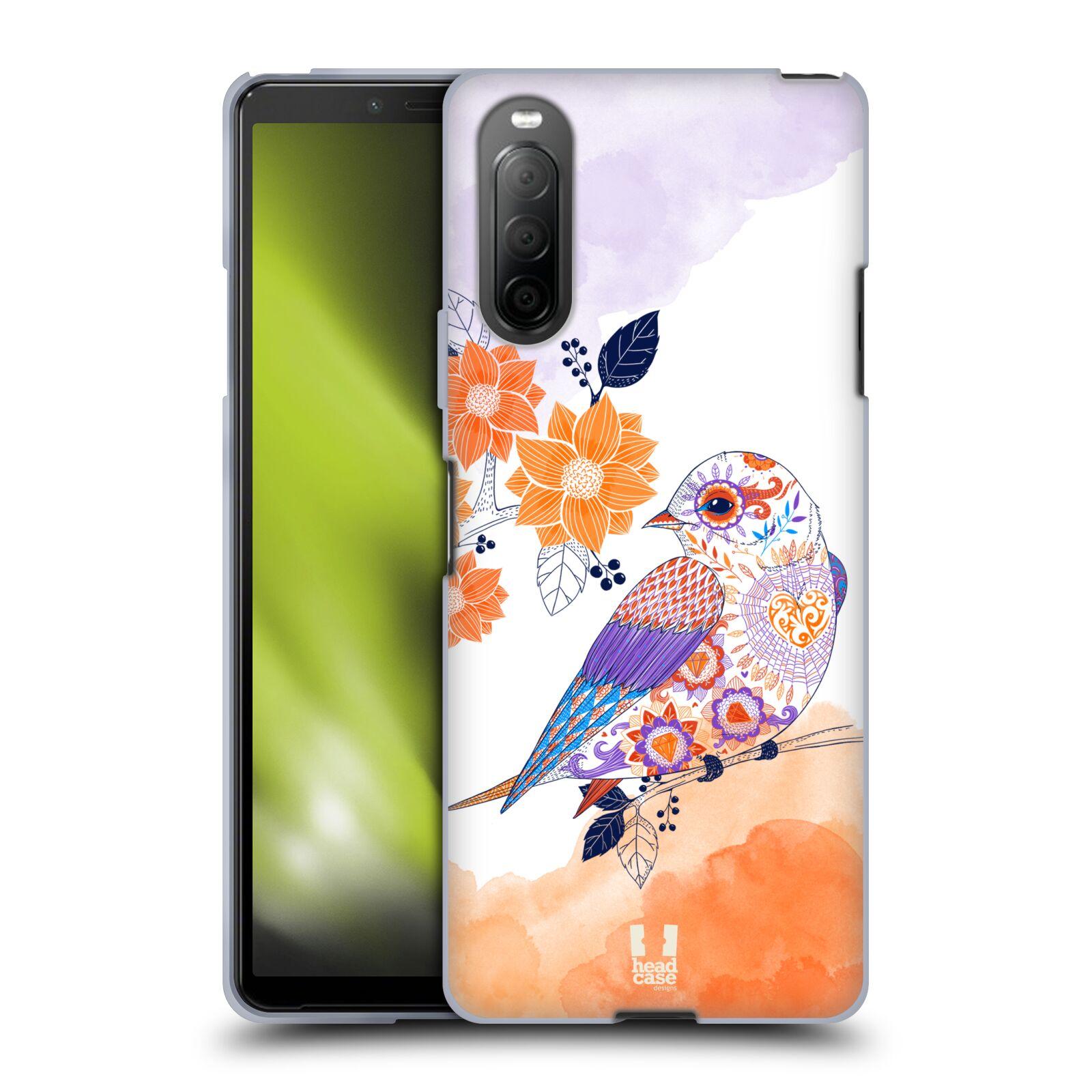Silikonové pouzdro na mobil Sony Xperia 10 II - Head Case - PTÁČEK TANGERINE