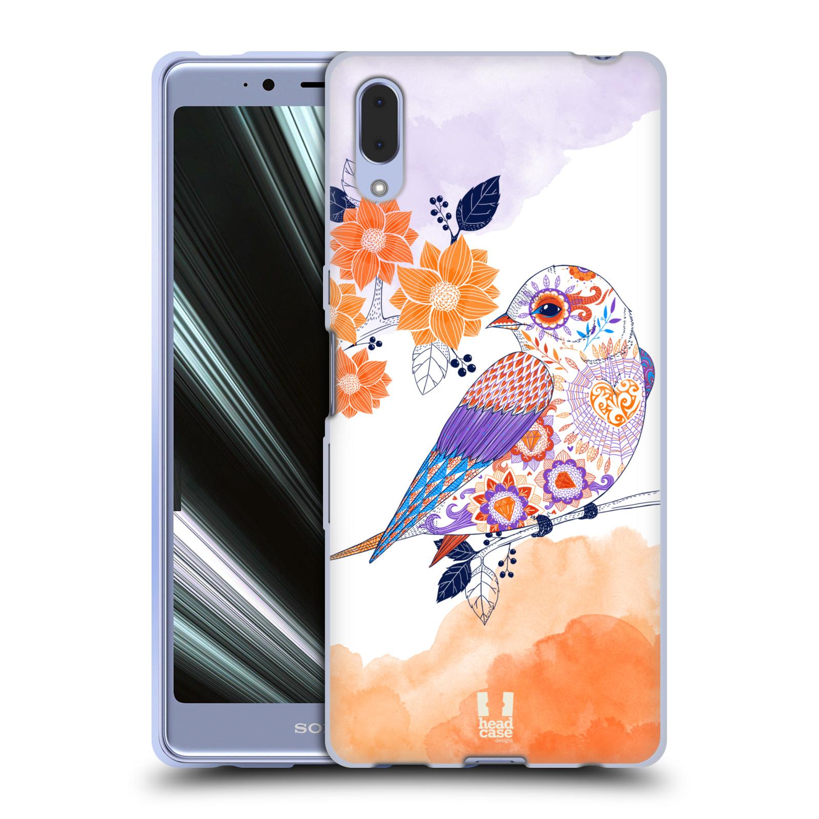 Silikonové pouzdro na mobil Sony Xperia L3 - Head Case - PTÁČEK TANGERINE