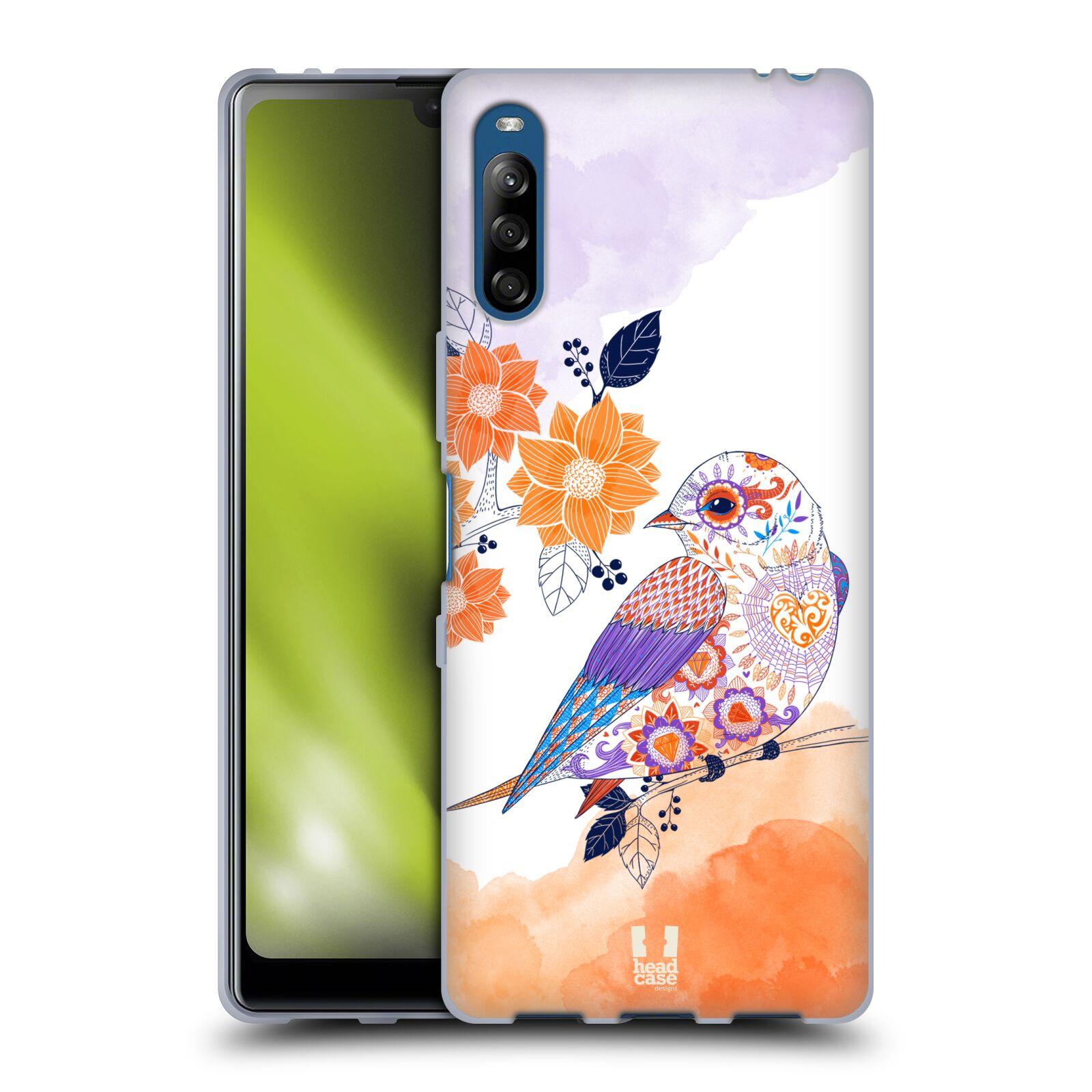 Silikonové pouzdro na mobil Sony Xperia L4 - Head Case - PTÁČEK TANGERINE