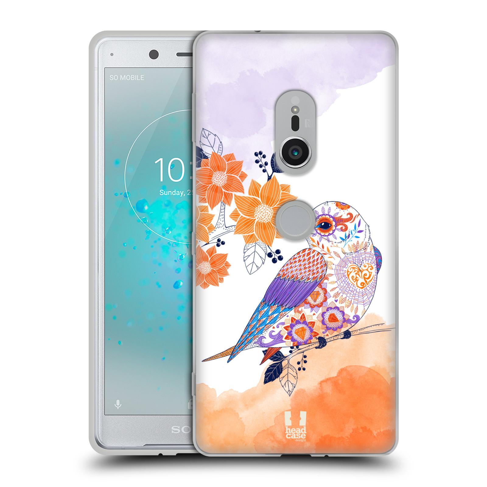 Silikonové pouzdro na mobil Sony Xperia XZ2 - Head Case - PTÁČEK TANGERINE