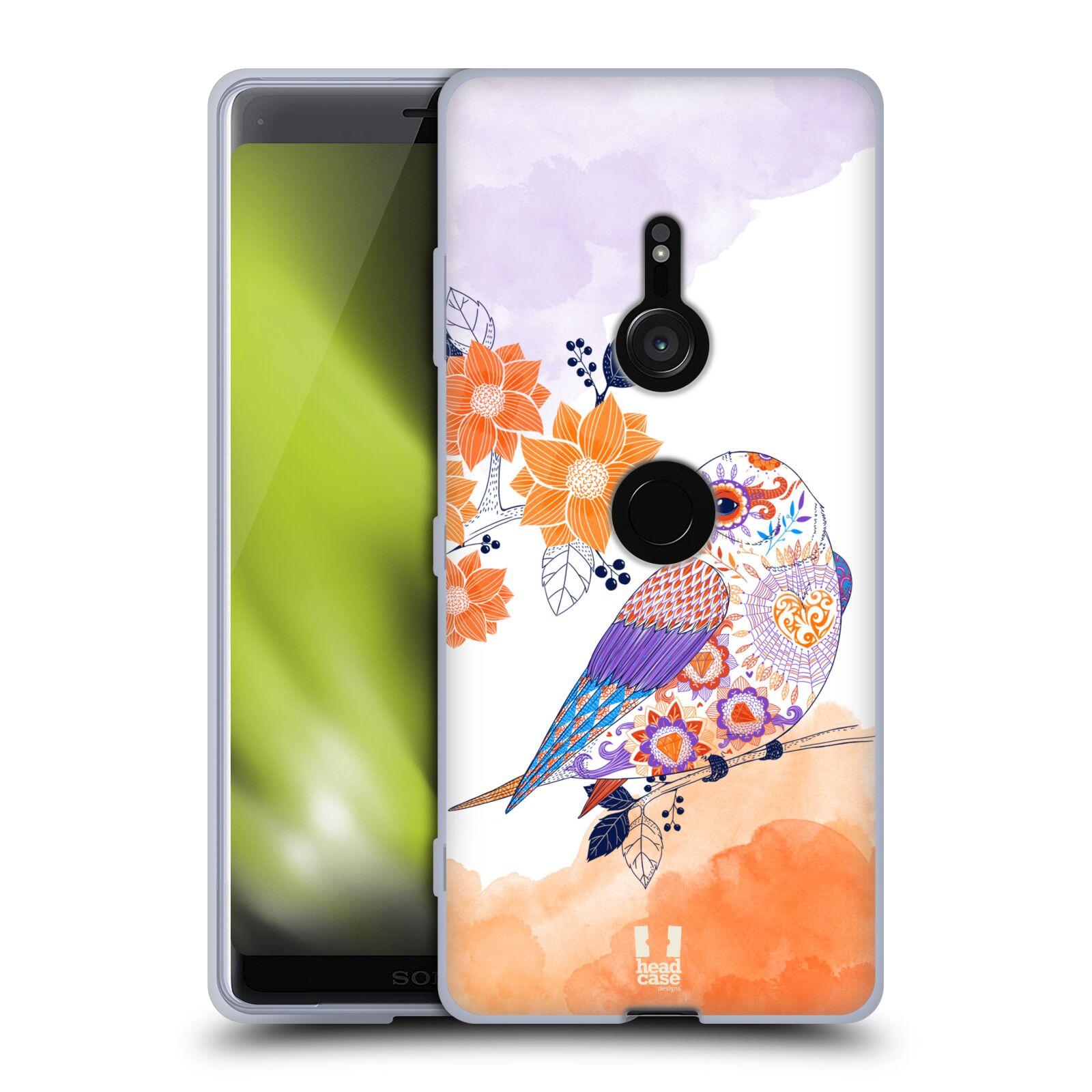 Silikonové pouzdro na mobil Sony Xperia XZ3 - Head Case - PTÁČEK TANGERINE
