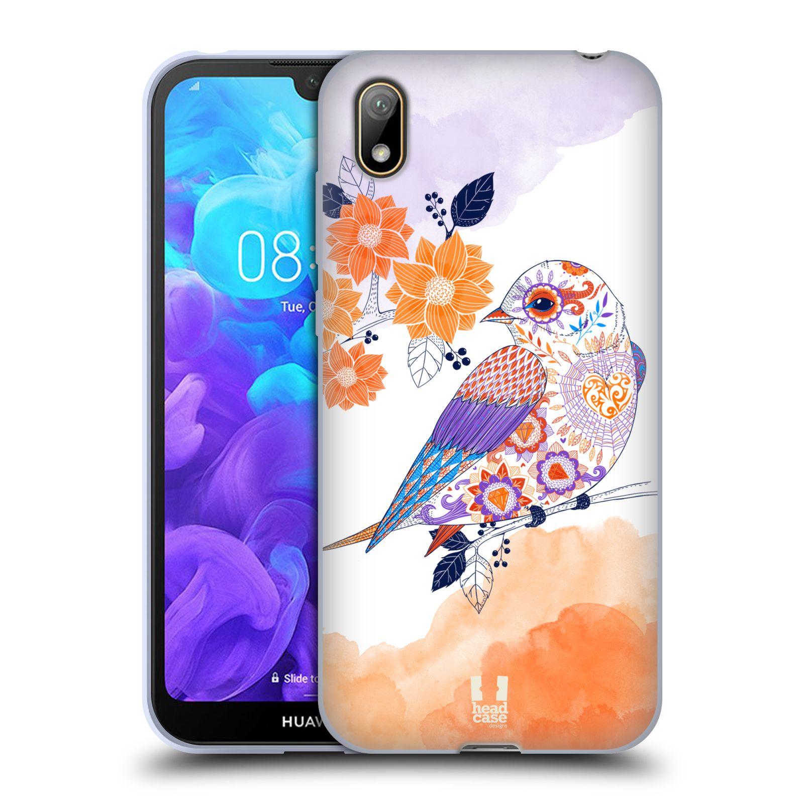 Silikonové pouzdro na mobil Huawei Y5 (2019) - Head Case - PTÁČEK TANGERINE