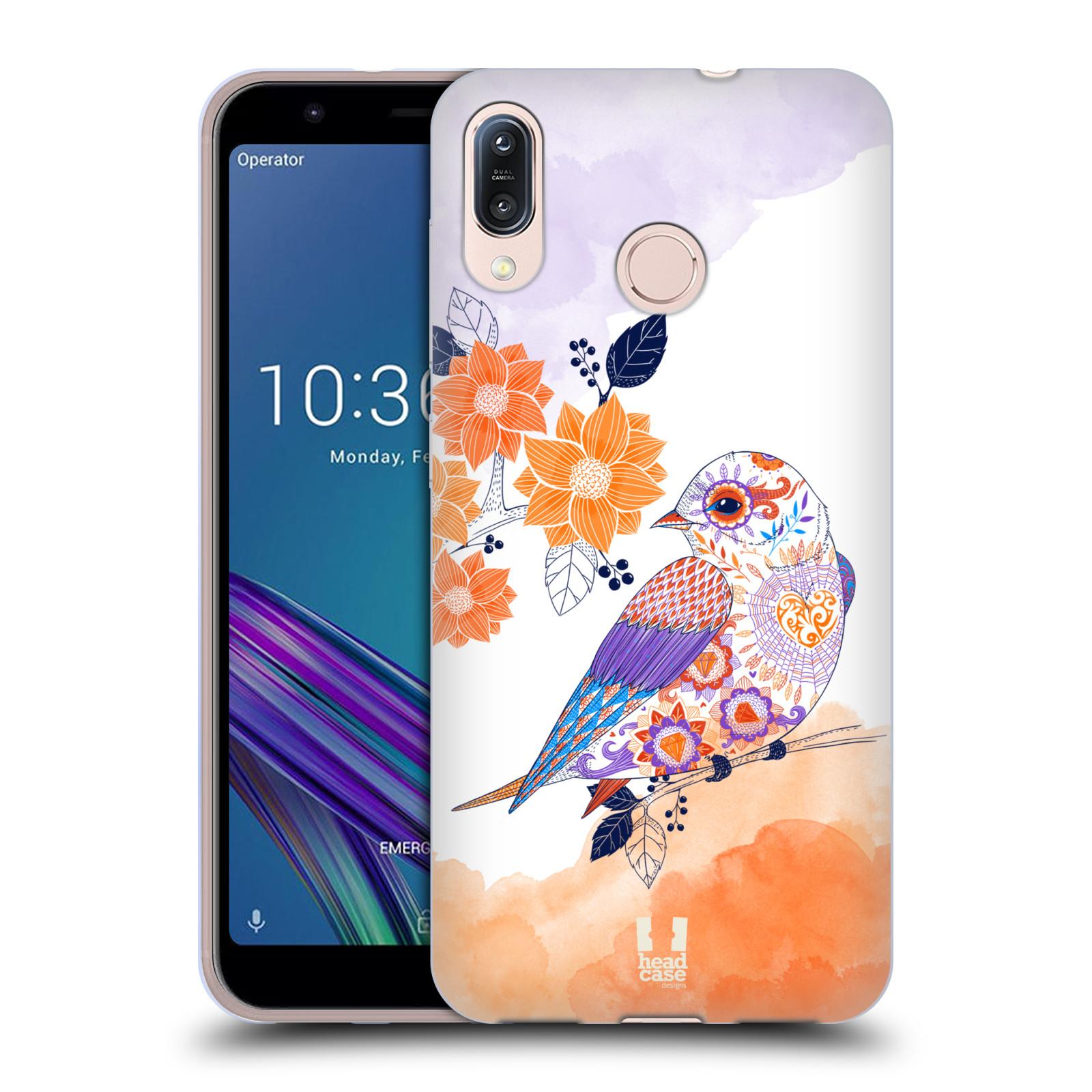 Silikonové pouzdro na mobil Asus Zenfone Max M1 ZB555KL - Head Case - PTÁČEK TANGERINE