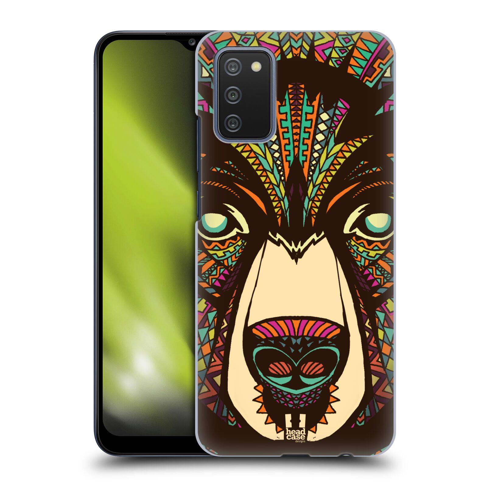 Plastové pouzdro na mobil Samsung Galaxy A02s - Head Case - AZTEC MEDVĚD