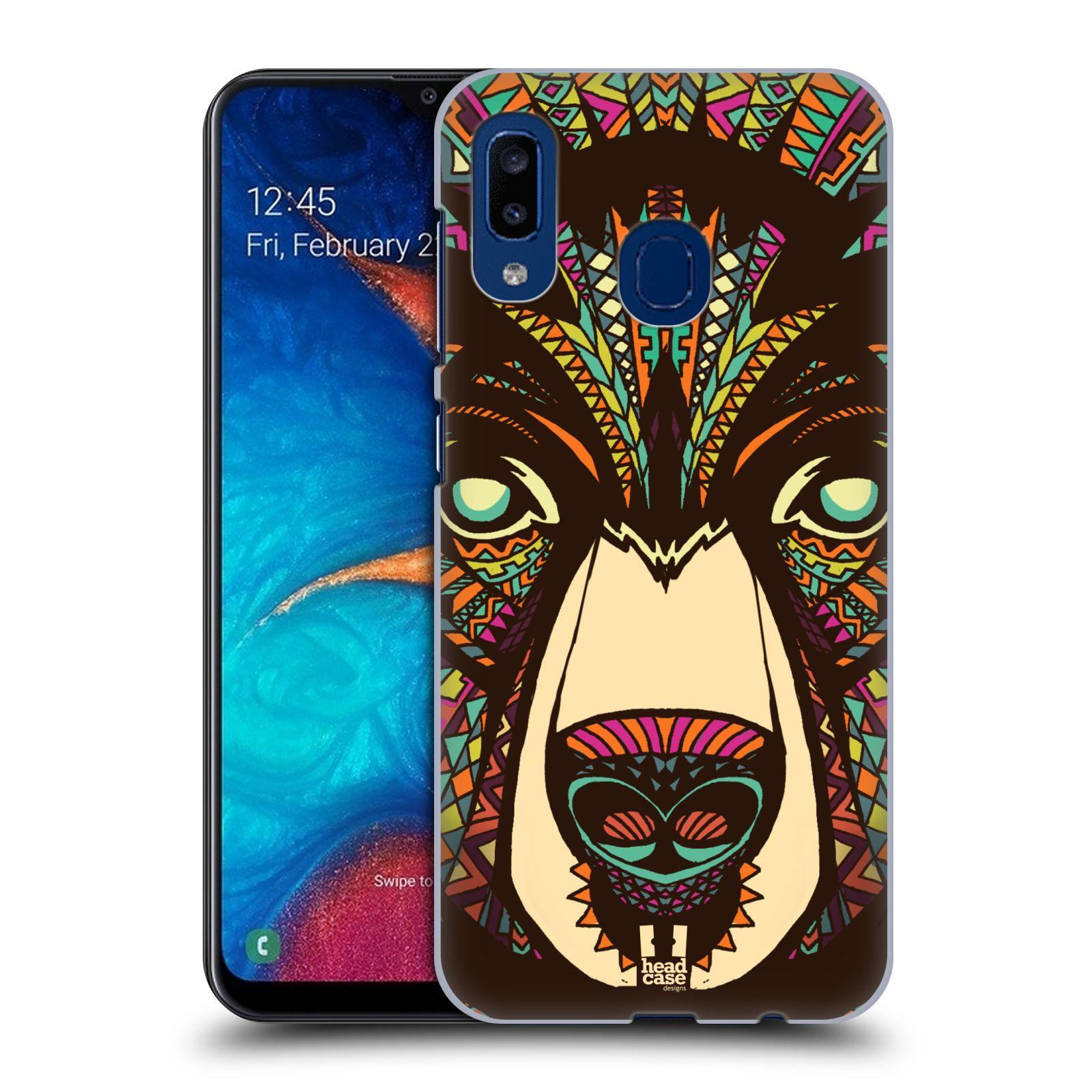 Plastové pouzdro na mobil Samsung Galaxy A20 - Head Case - AZTEC MEDVĚD