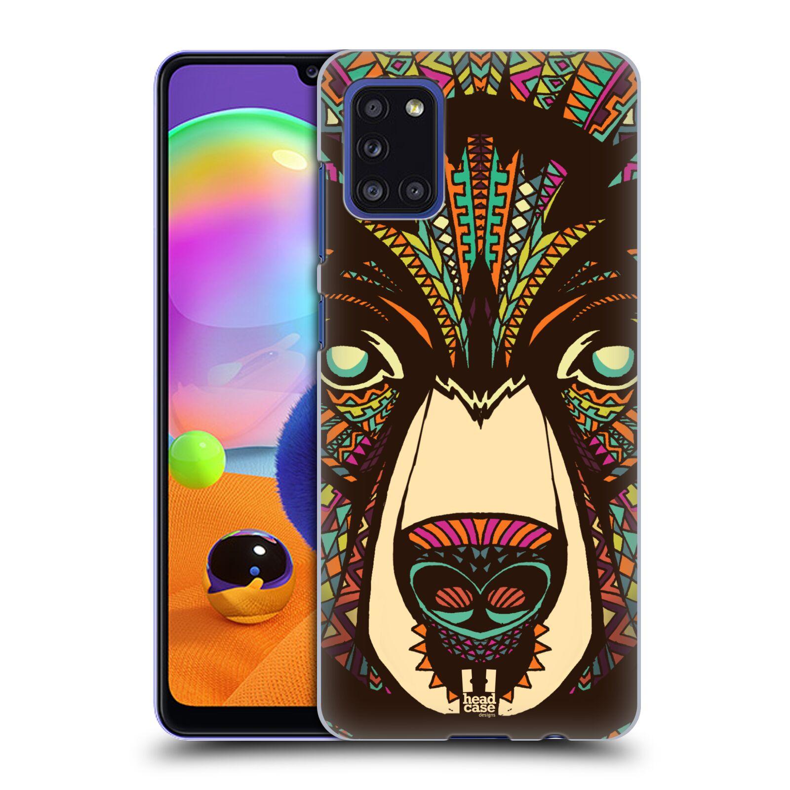 Plastové pouzdro na mobil Samsung Galaxy A31 - Head Case - AZTEC MEDVĚD