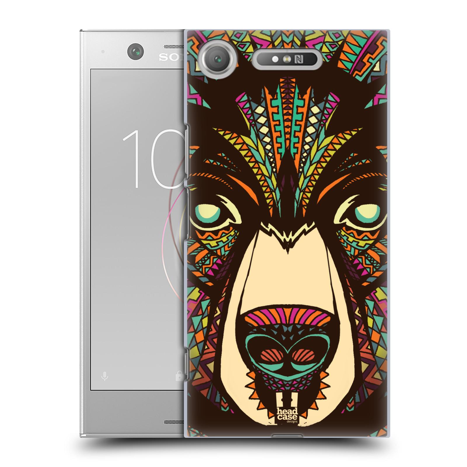 Plastové pouzdro na mobil Sony Xperia XZ1 - Head Case - AZTEC MEDVĚD