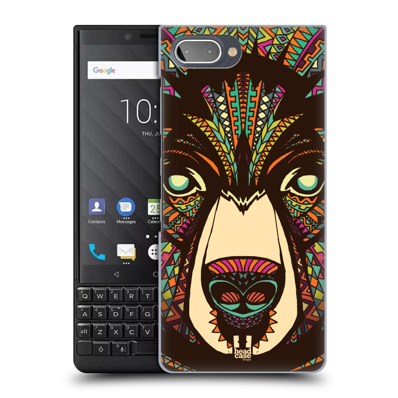 Plastové pouzdro na mobil Blackberry Key 2 - Head Case - AZTEC MEDVĚD