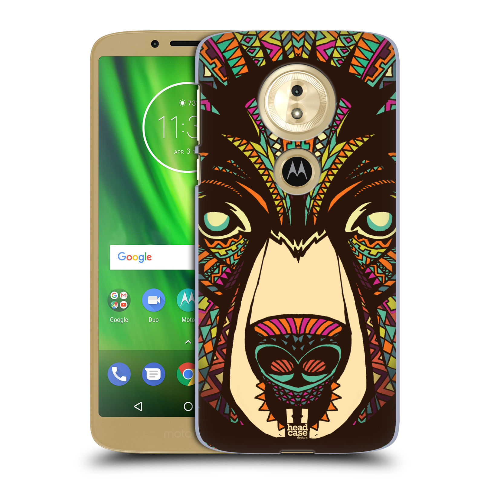 Plastové pouzdro na mobil Motorola Moto G6 Play - Head Case - AZTEC MEDVĚD