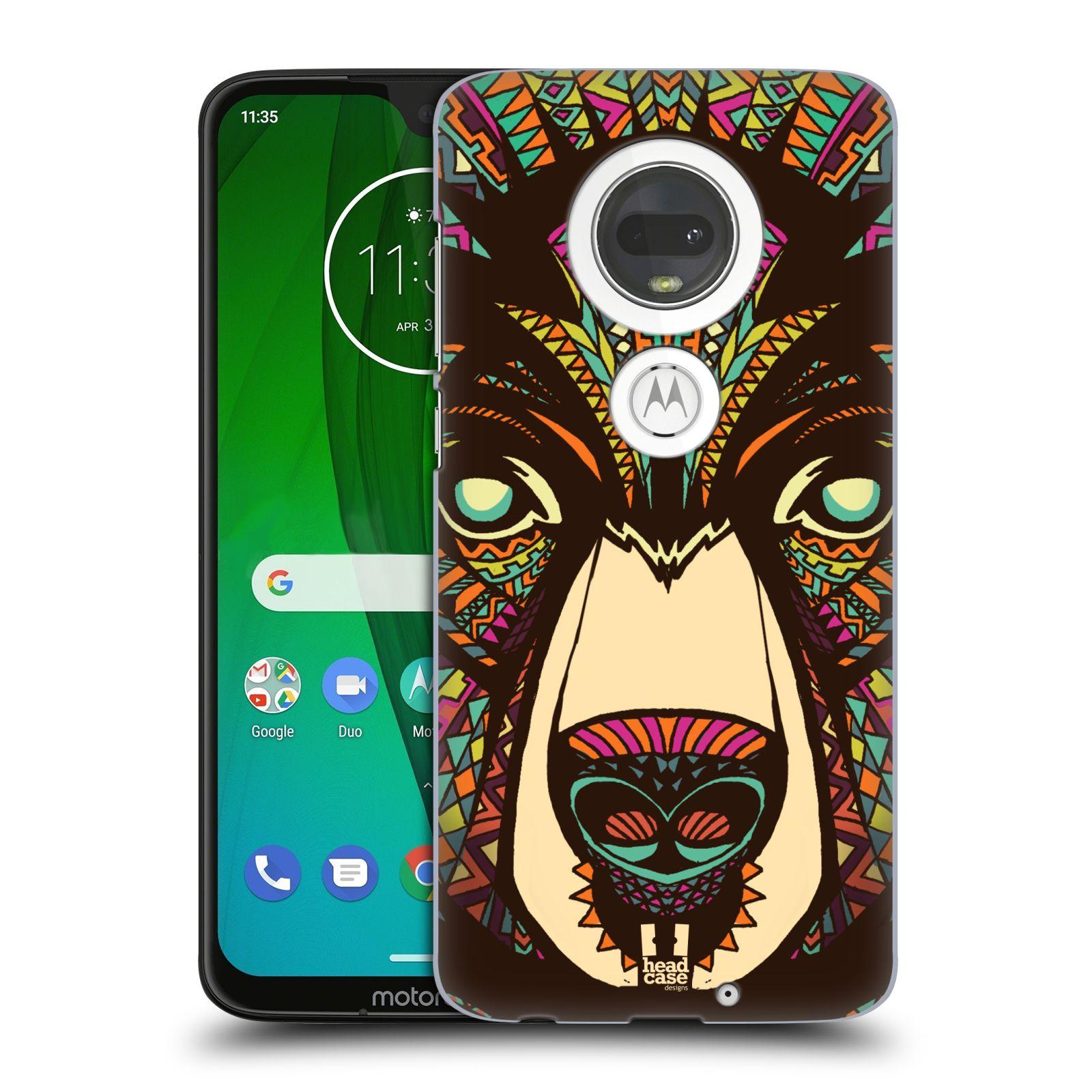 Plastové pouzdro na mobil Motorola Moto G7 - Head Case - AZTEC MEDVĚD