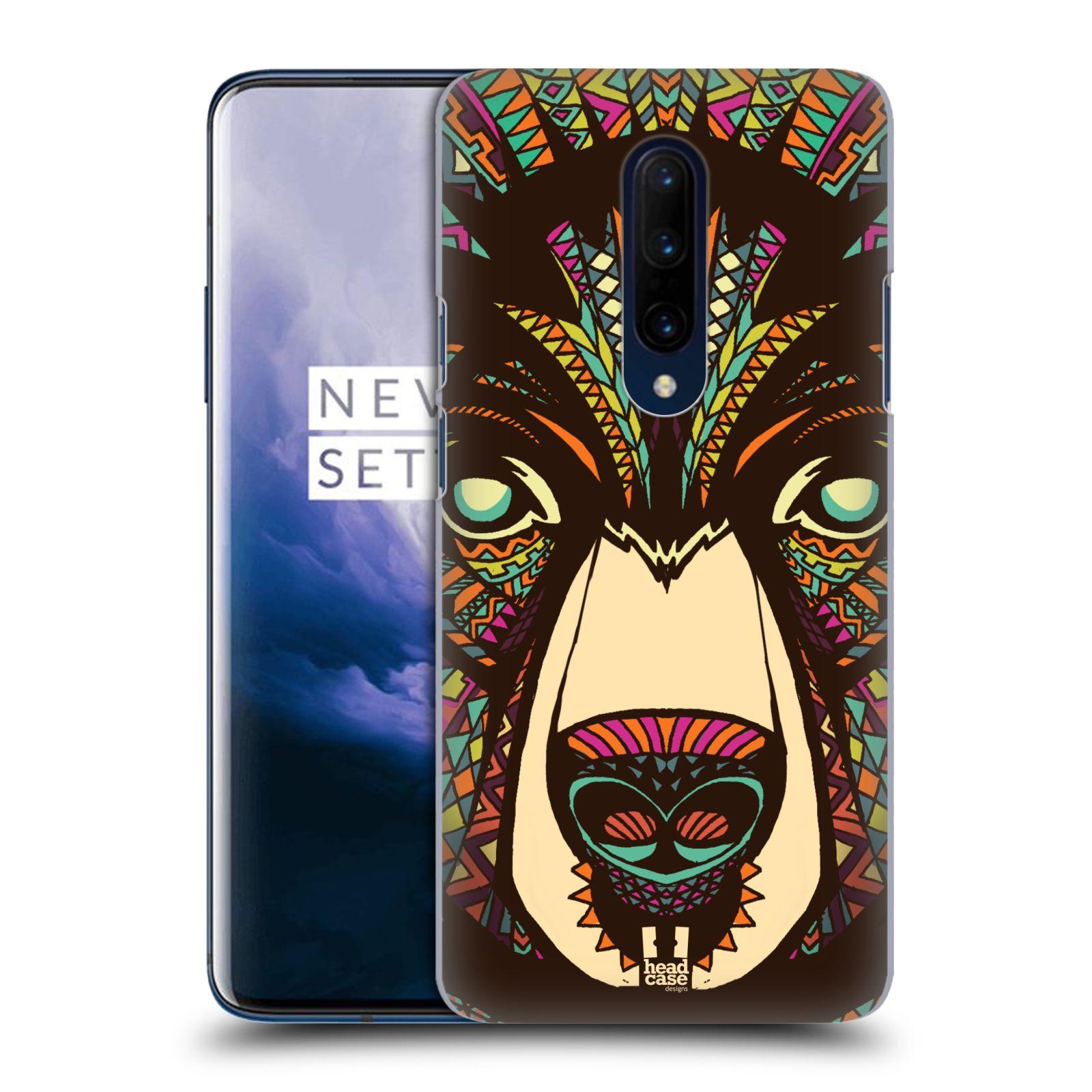 Plastové pouzdro na mobil OnePlus 7 Pro - Head Case - AZTEC MEDVĚD