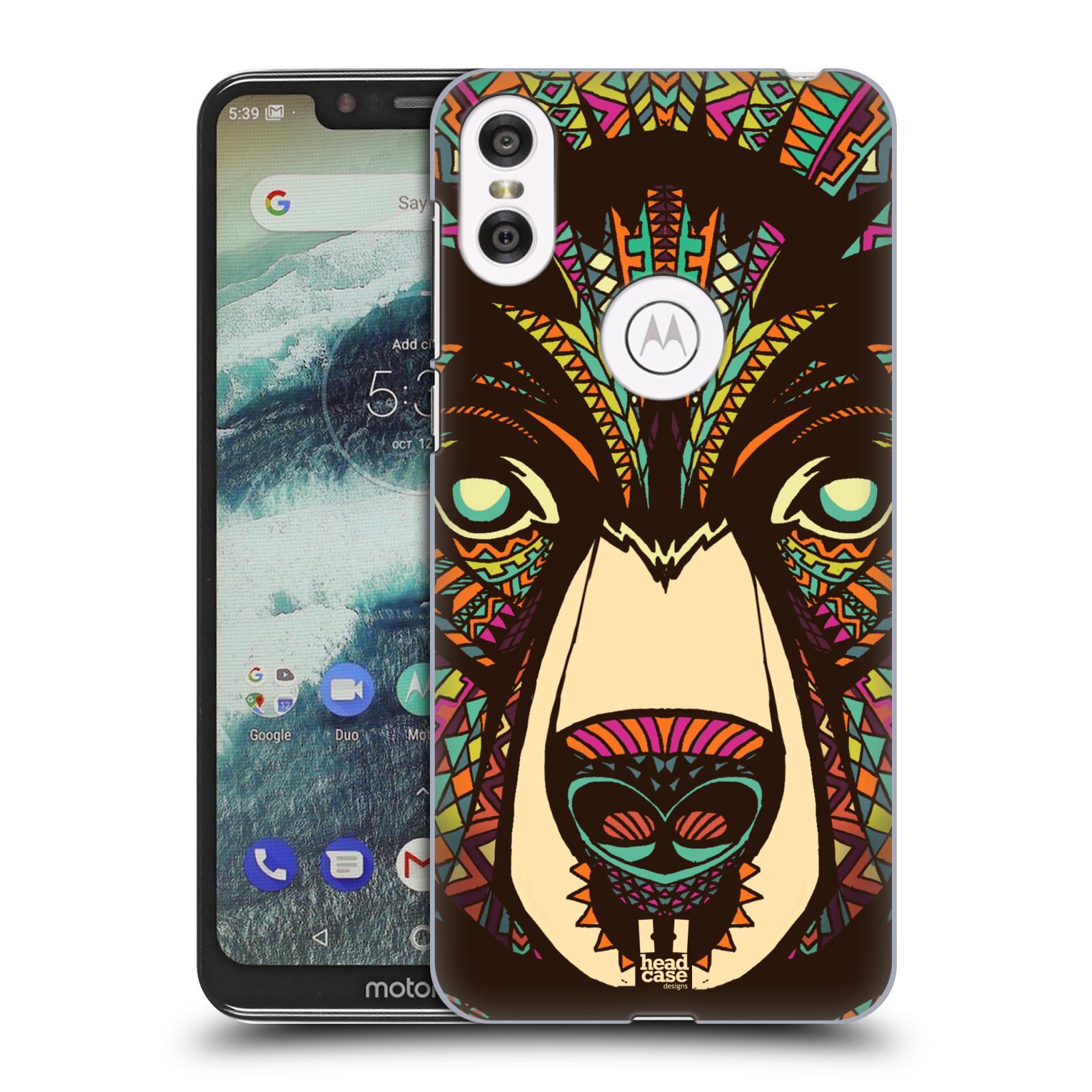 Plastové pouzdro na mobil Motorola One - Head Case - AZTEC MEDVĚD