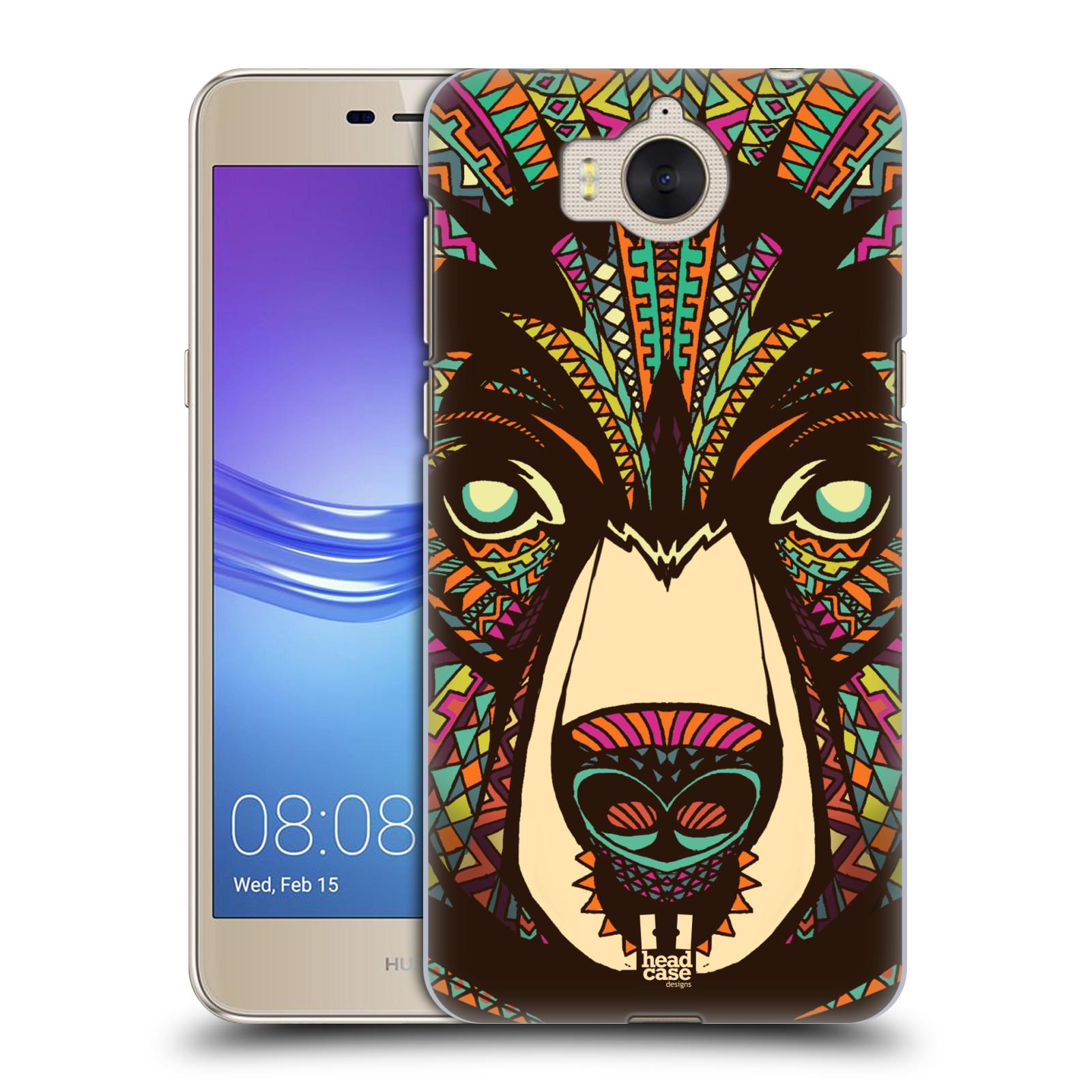 Plastové pouzdro na mobil Huawei Y6 2017 - Head Case - AZTEC MEDVĚD