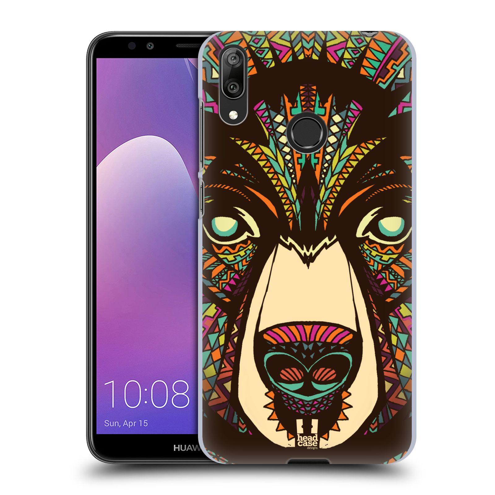Plastové pouzdro na mobil Huawei Y7 (2019) - Head Case - AZTEC MEDVĚD