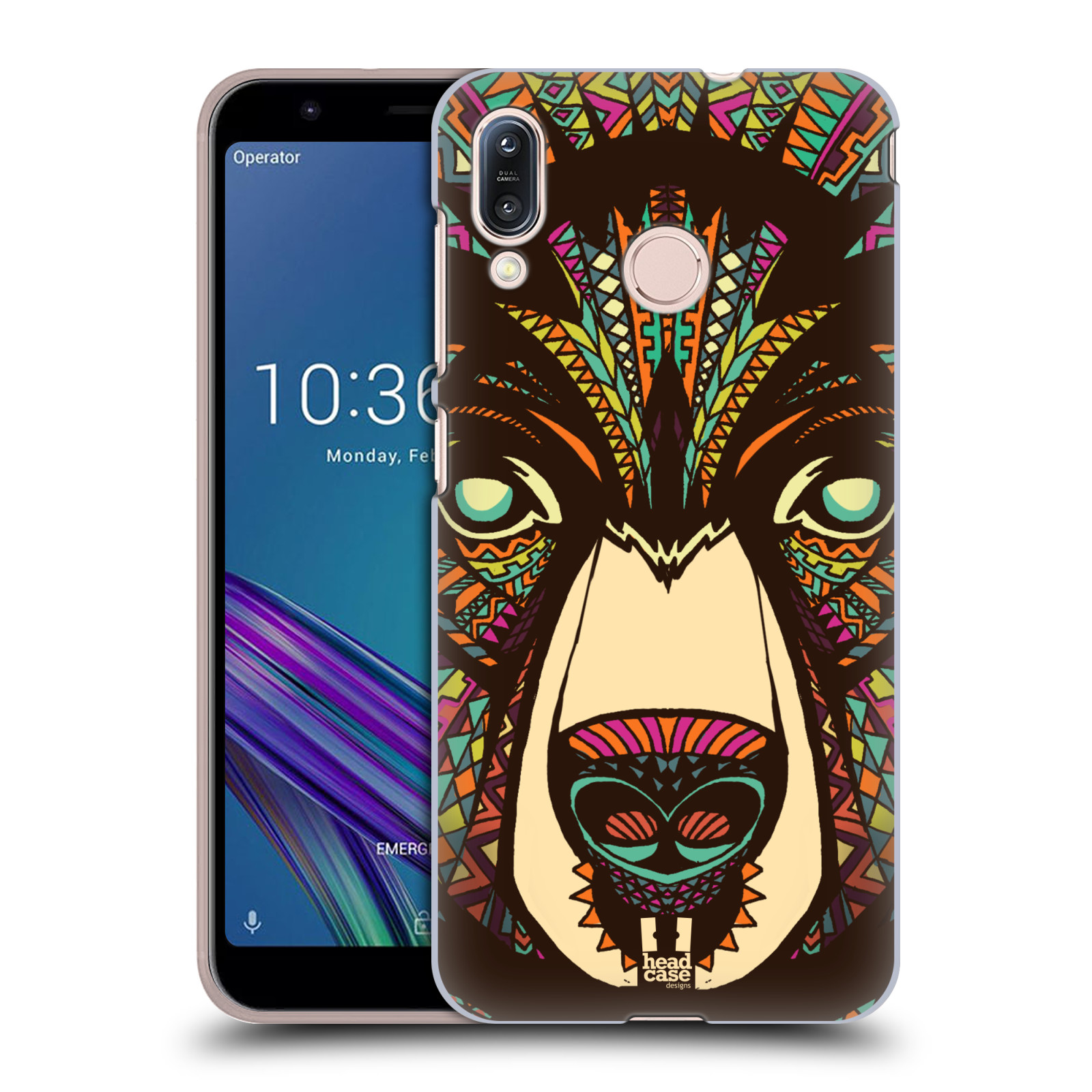 Plastové pouzdro na mobil Asus Zenfone Max M1 ZB555KL - Head Case - AZTEC MEDVĚD