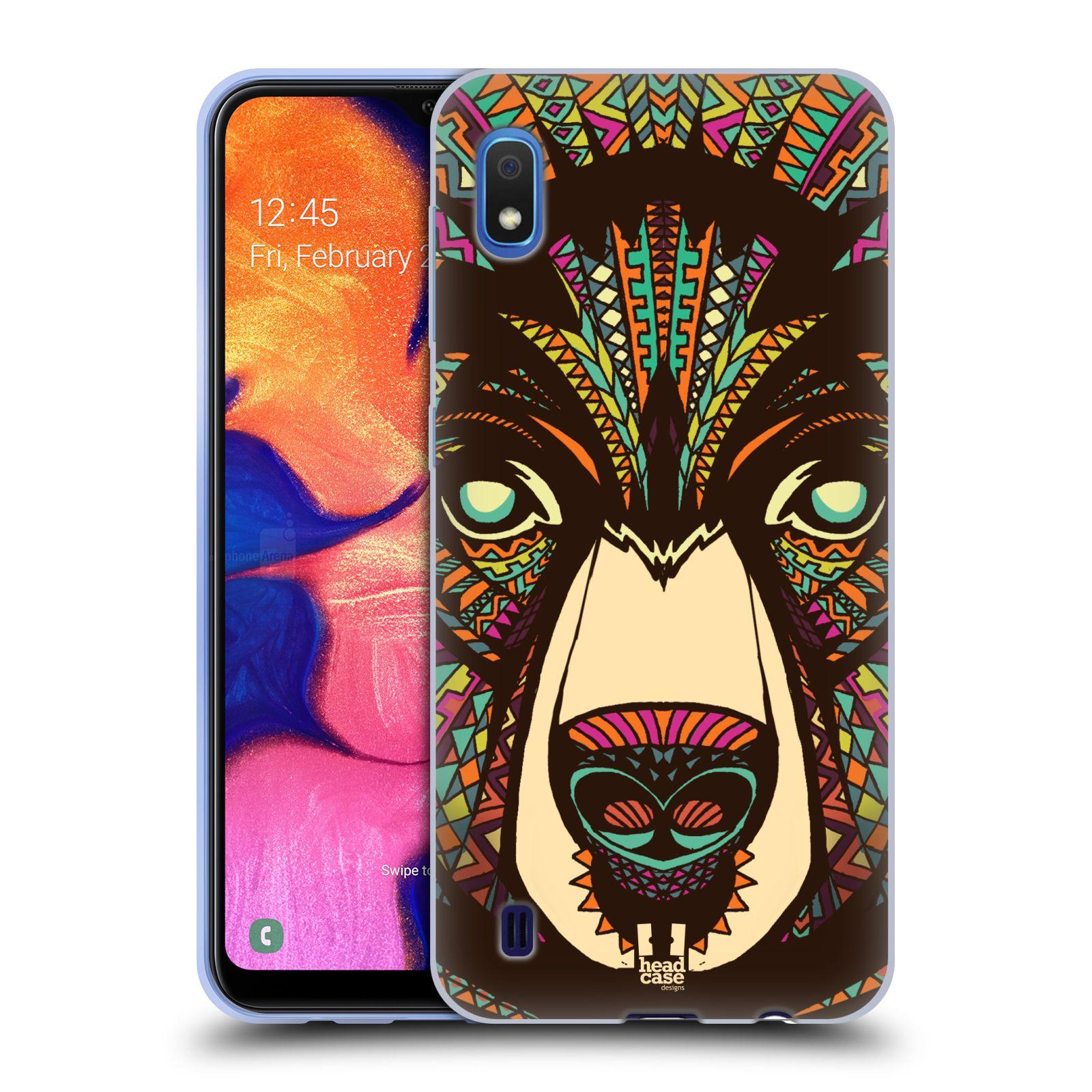 Silikonové pouzdro na mobil Samsung Galaxy A10 - Head Case - AZTEC MEDVĚD