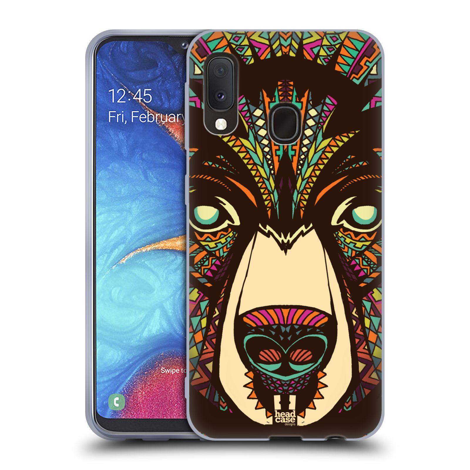 Silikonové pouzdro na mobil Samsung Galaxy A20e - Head Case - AZTEC MEDVĚD