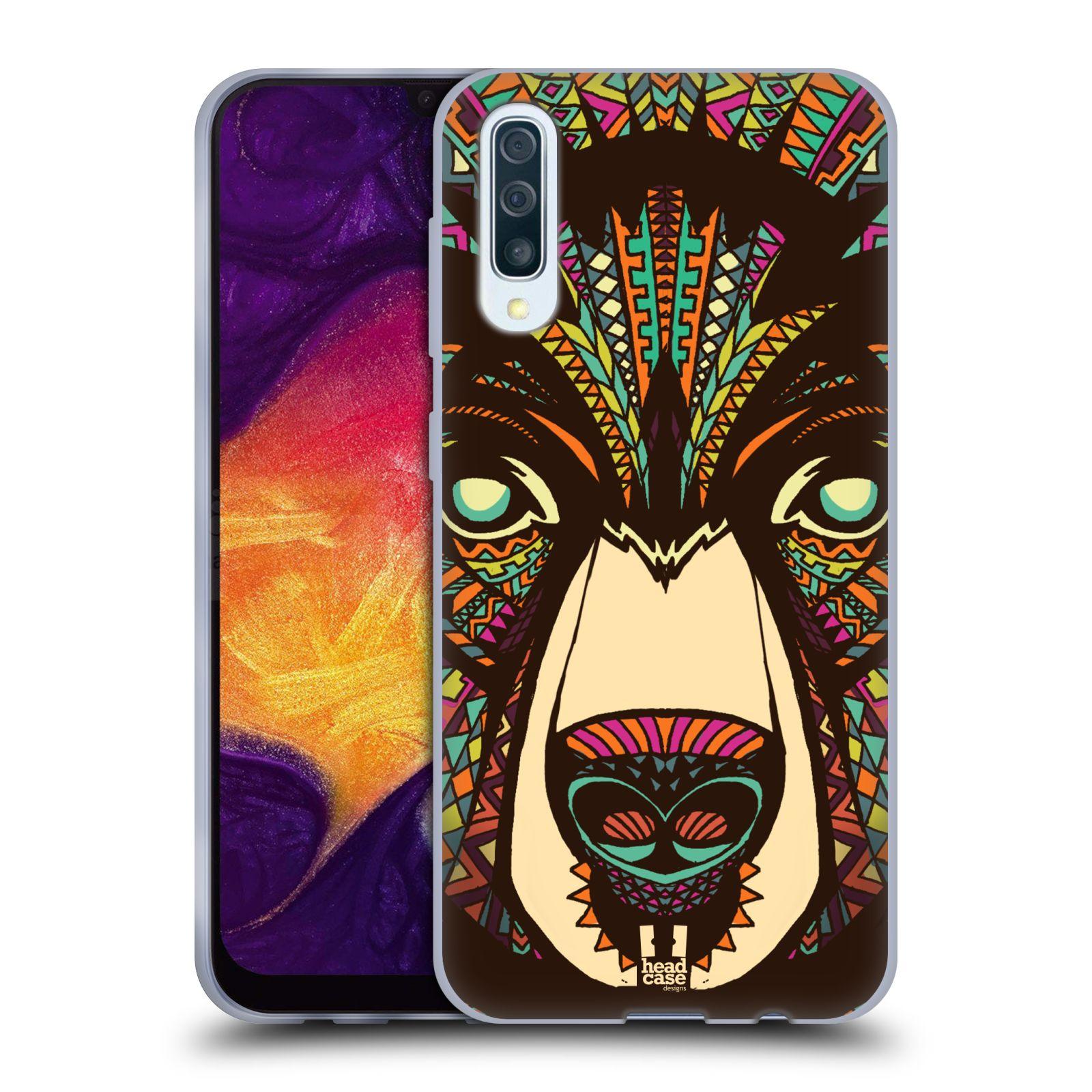 Silikonové pouzdro na mobil Samsung Galaxy A50 / A30s - Head Case - AZTEC MEDVĚD