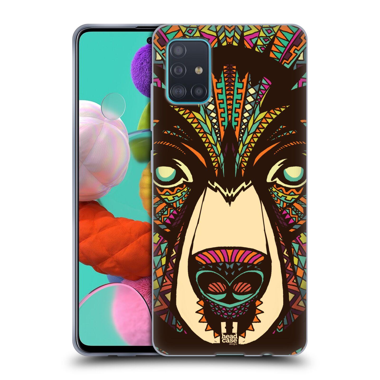 Silikonové pouzdro na mobil Samsung Galaxy A51 - Head Case - AZTEC MEDVĚD