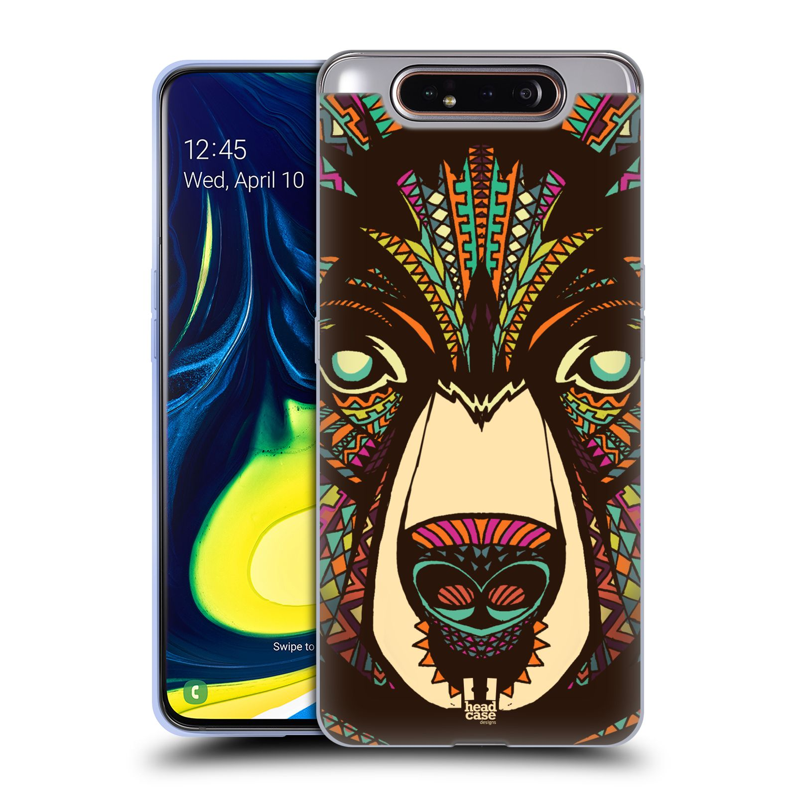 Silikonové pouzdro na mobil Samsung Galaxy A80 - Head Case - AZTEC MEDVĚD