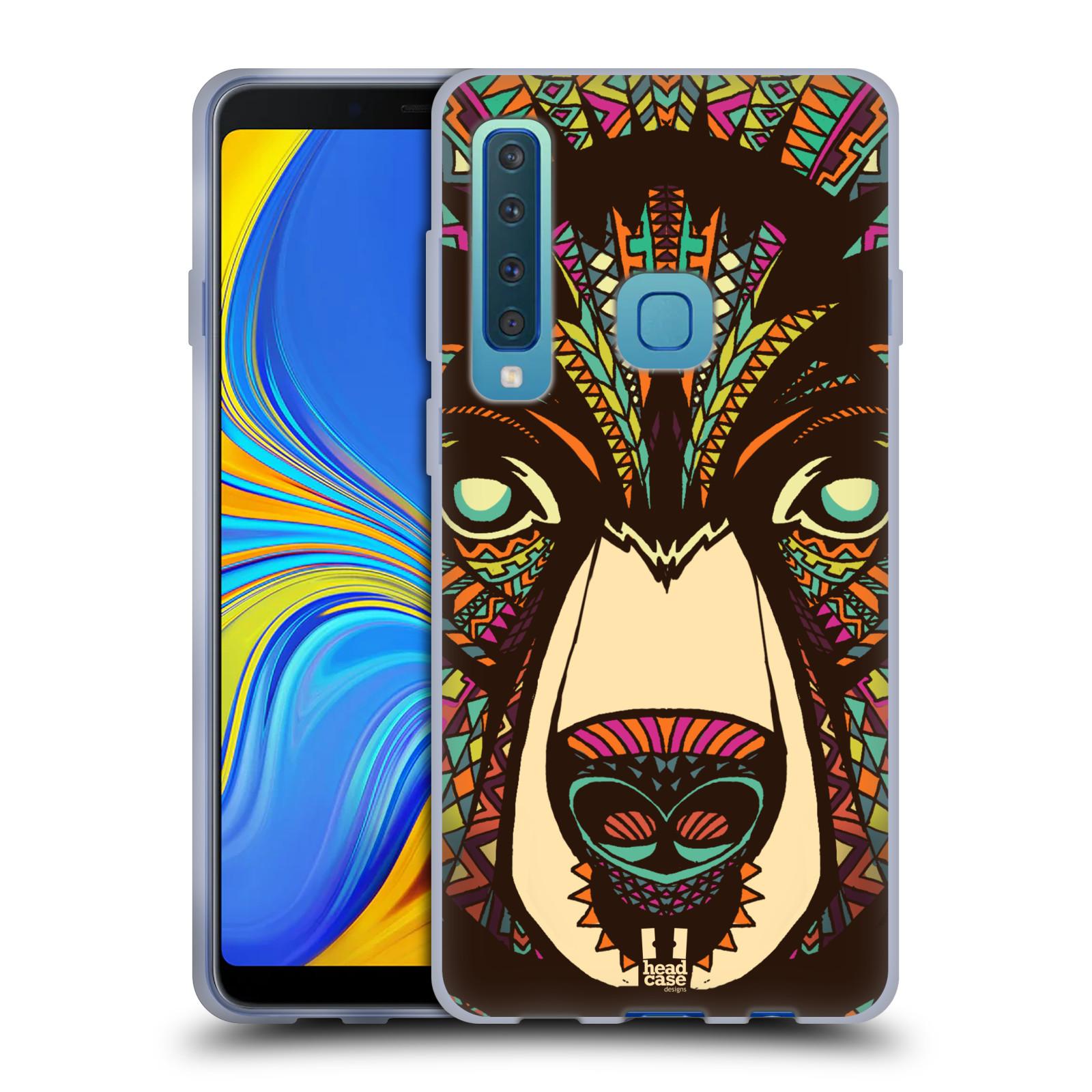 Silikonové pouzdro na mobil Samsung Galaxy A9 (2018) - Head Case - AZTEC MEDVĚD