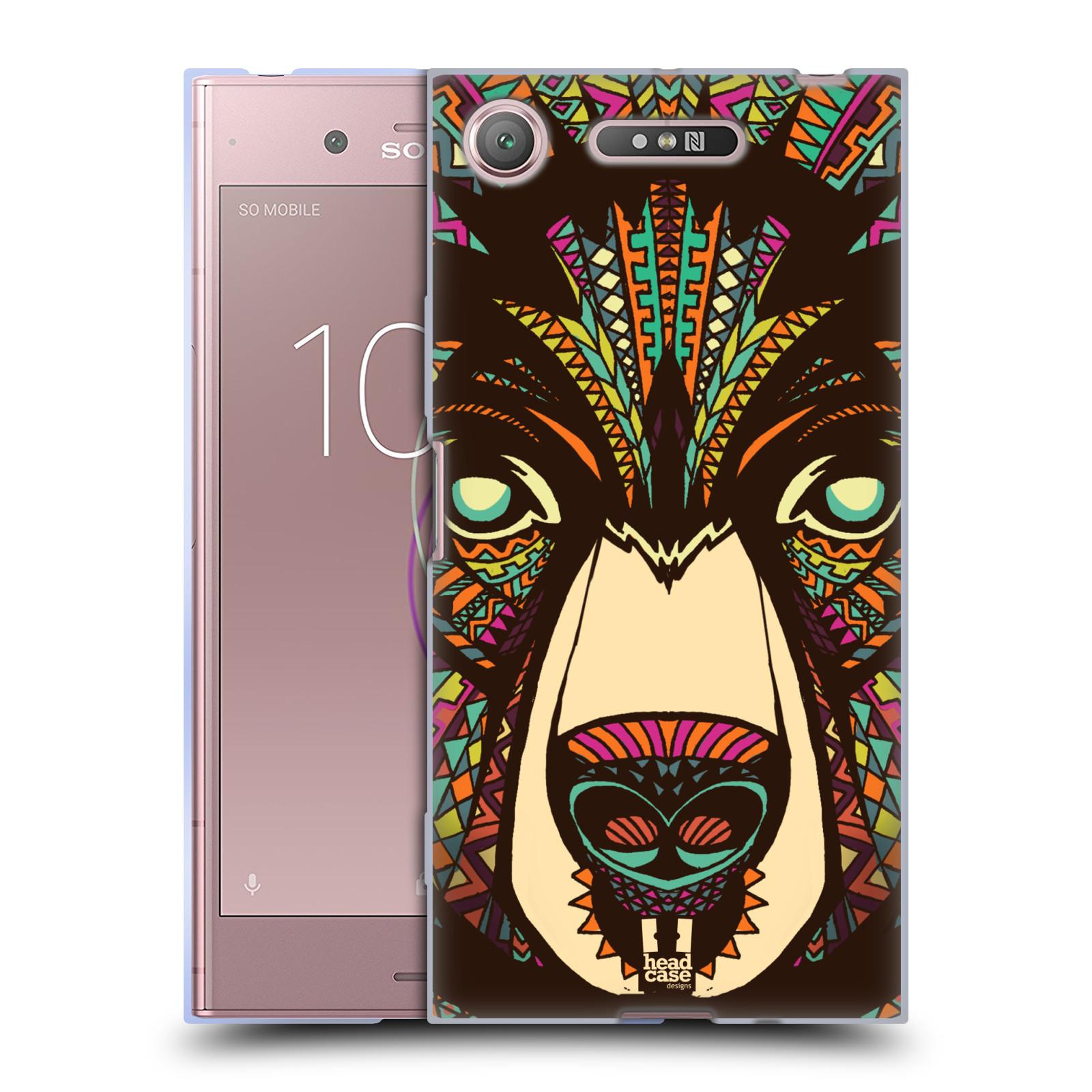Silikonové pouzdro na mobil Sony Xperia XZ1 - Head Case - AZTEC MEDVĚD