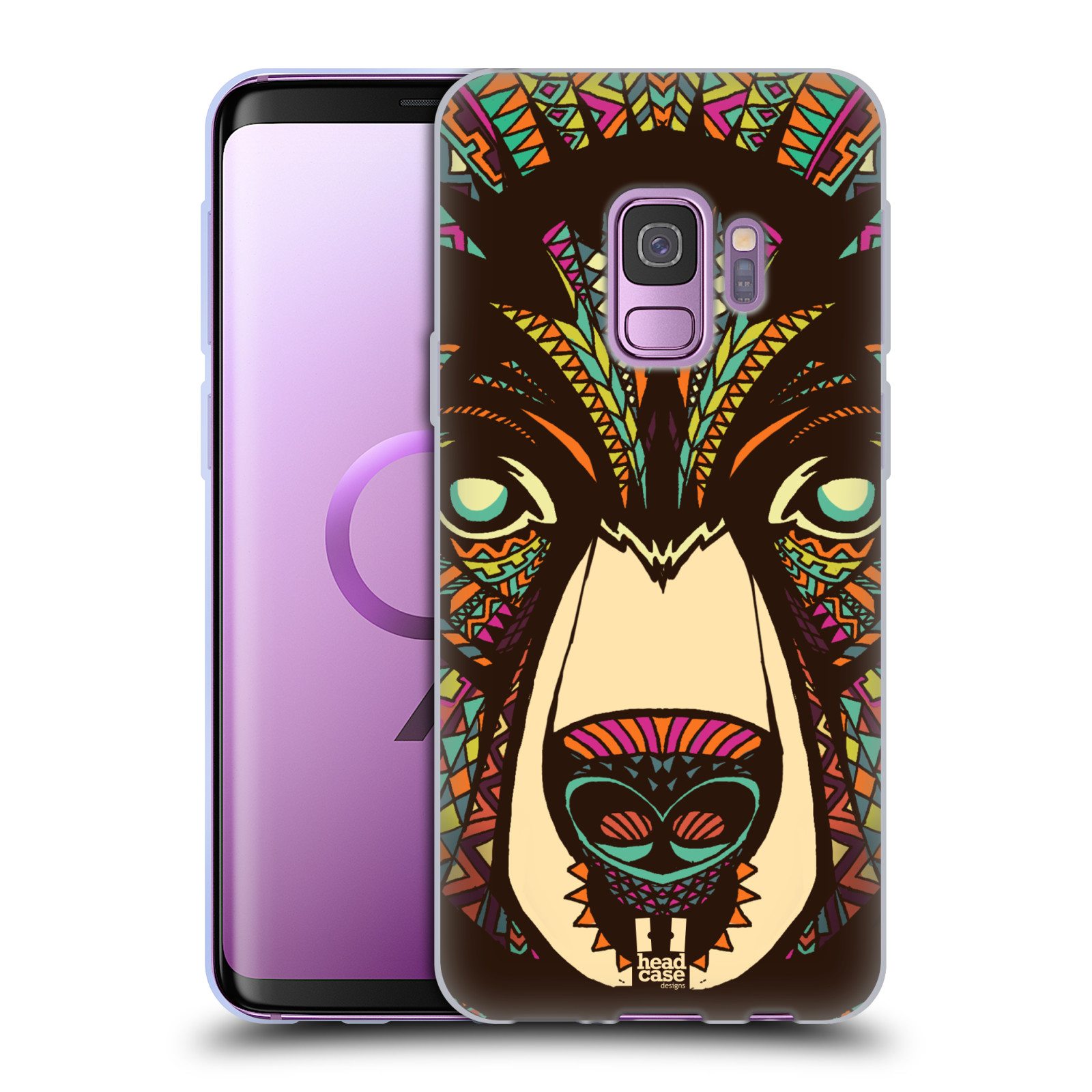 Silikonové pouzdro na mobil Samsung Galaxy S9 - Head Case - AZTEC MEDVĚD