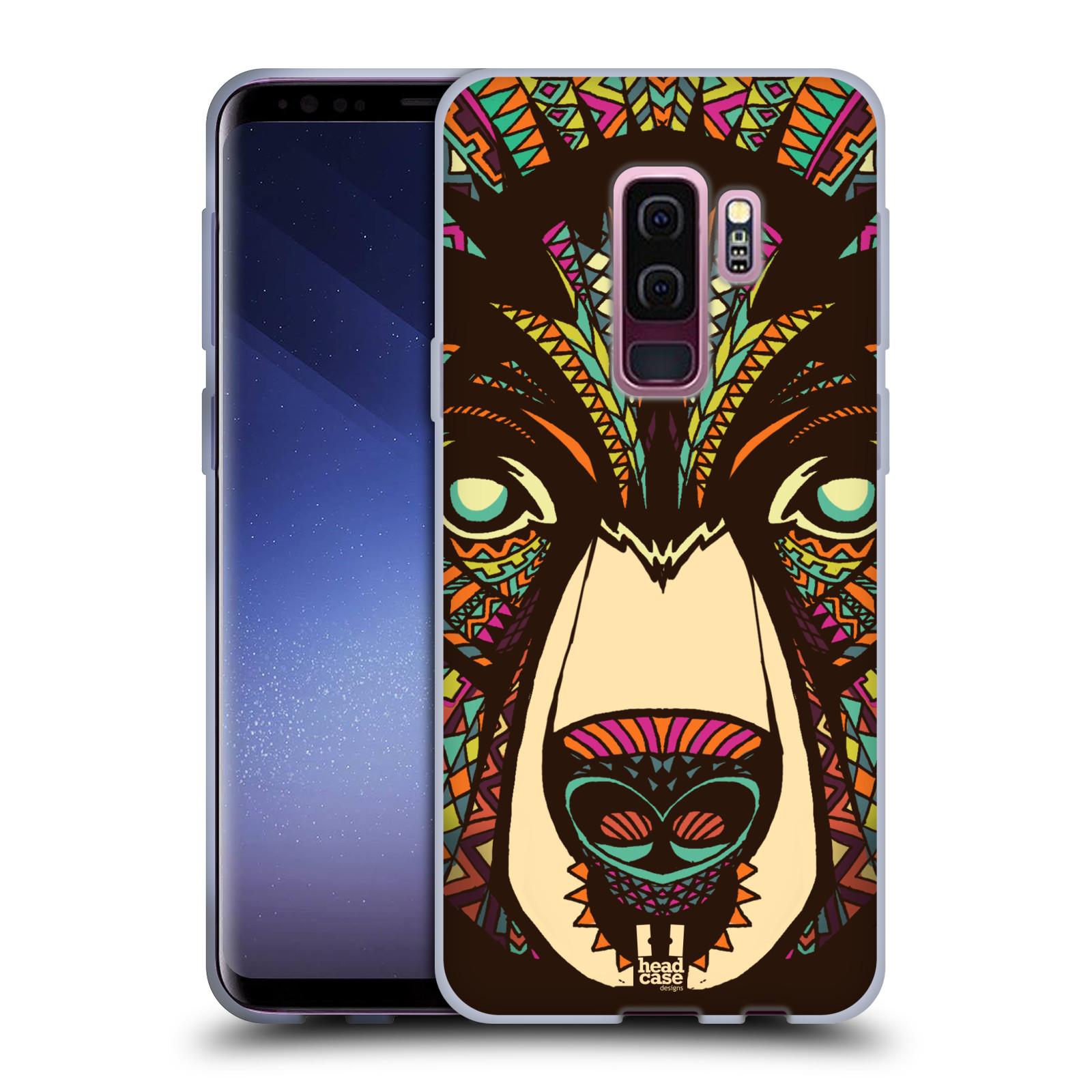 Silikonové pouzdro na mobil Samsung Galaxy S9 Plus - Head Case - AZTEC MEDVĚD
