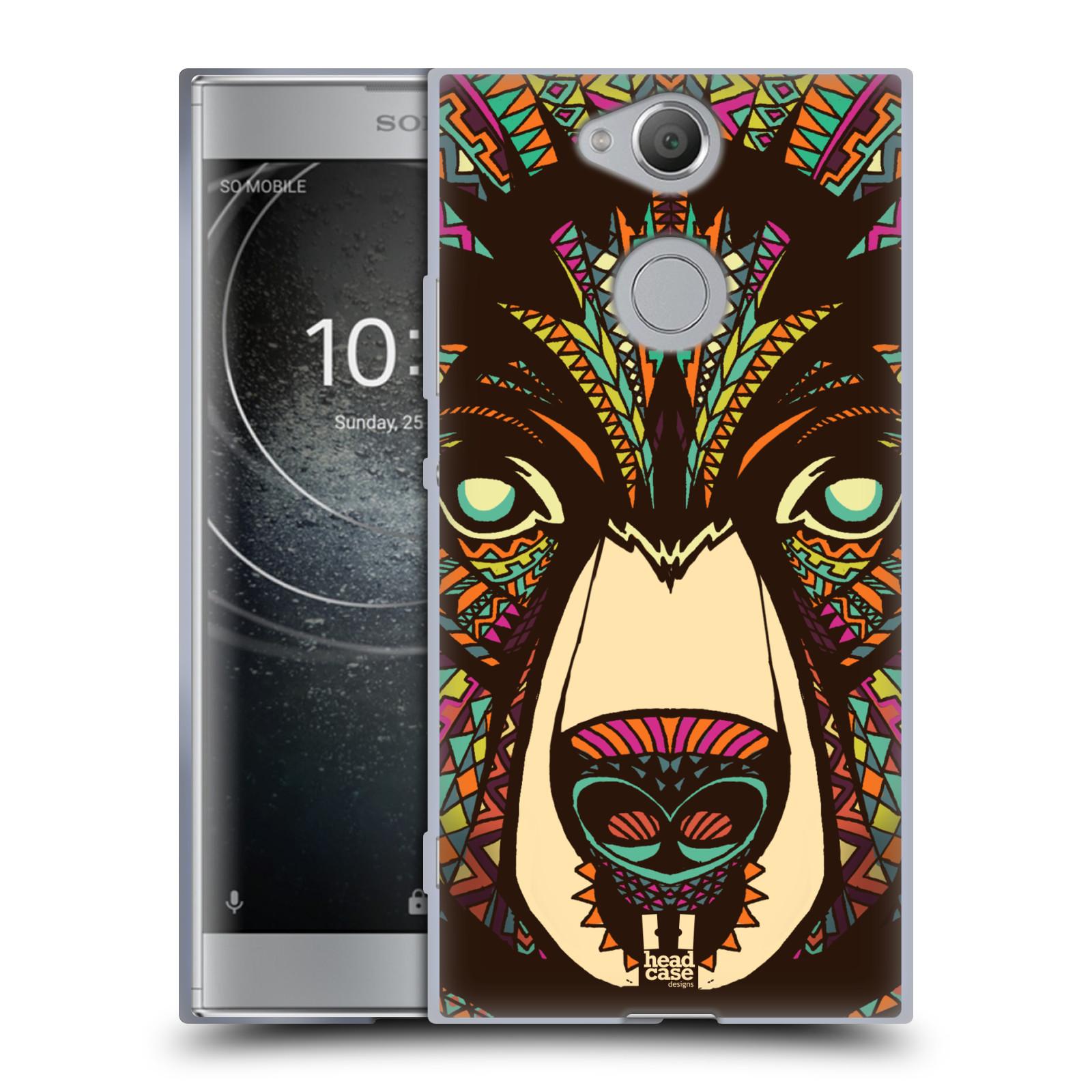 Silikonové pouzdro na mobil Sony Xperia XA2 - Head Case - AZTEC MEDVĚD