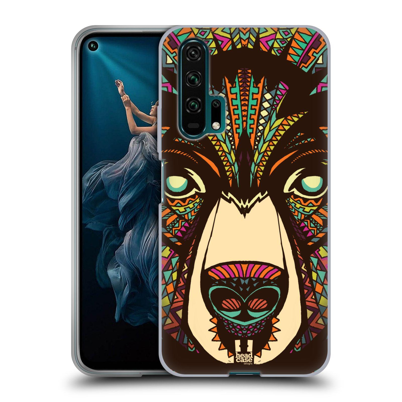 Silikonové pouzdro na mobil Honor 20 Pro - Head Case - AZTEC MEDVĚD