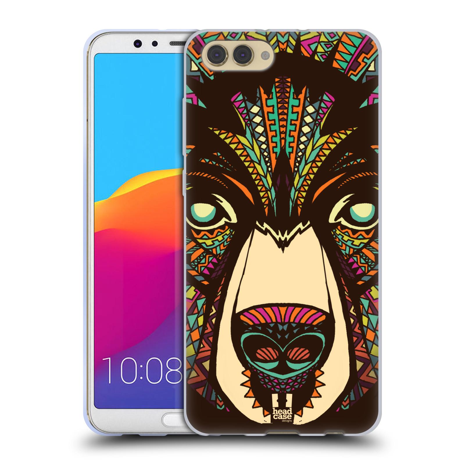 Silikonové pouzdro na mobil Honor View 10 - Head Case - AZTEC MEDVĚD