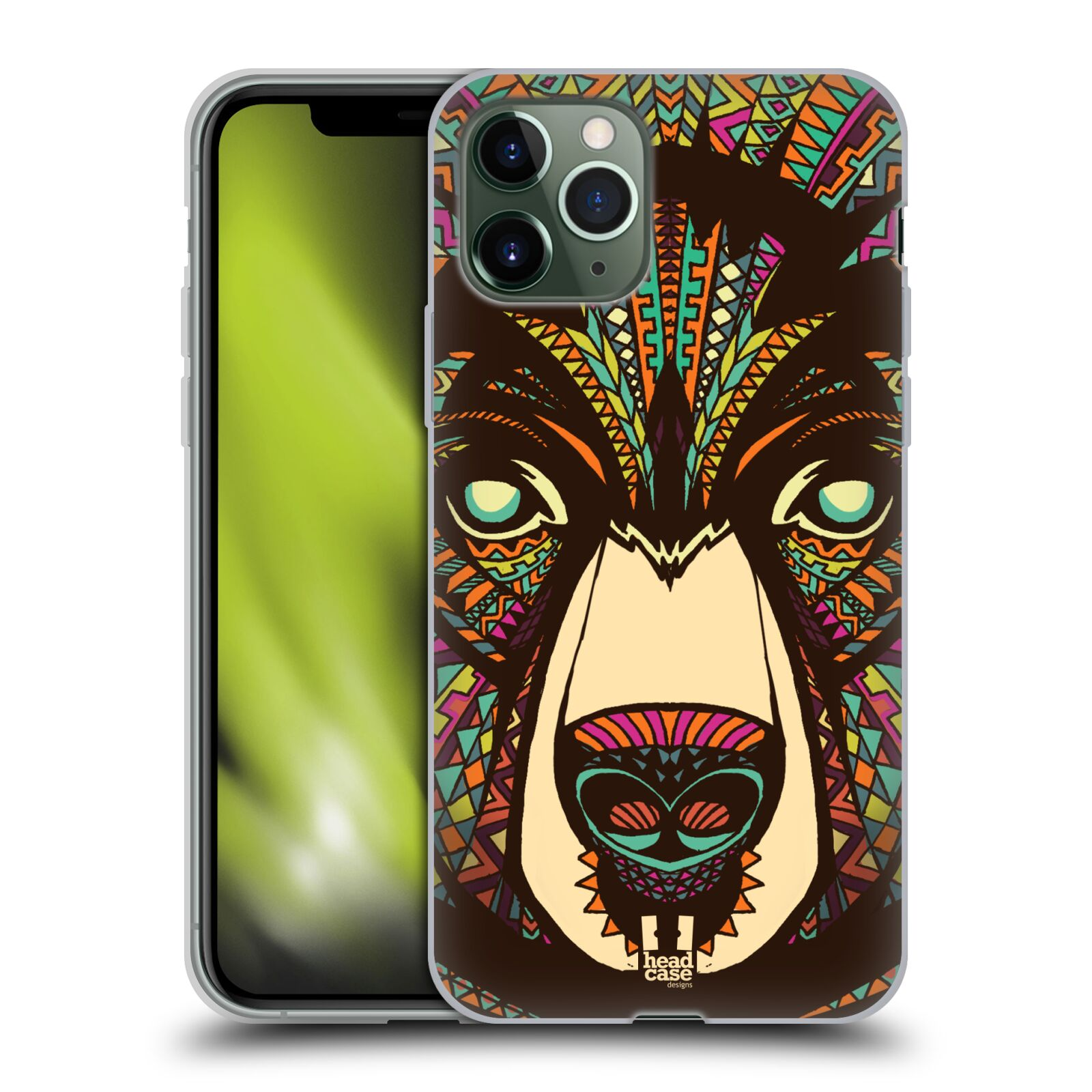 louisvuitton obaly iphone x , Silikonové pouzdro na mobil Apple iPhone 11 Pro - Head Case - AZTEC MEDVĚD