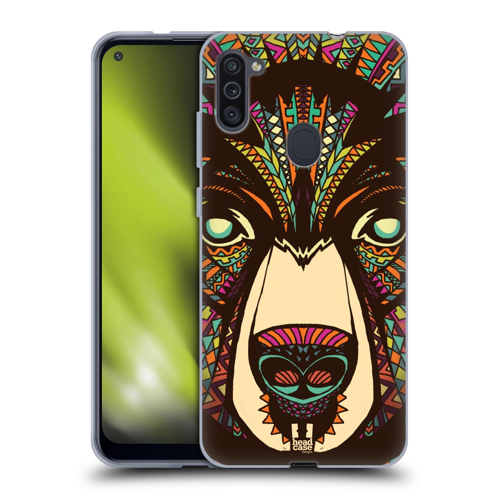 Silikonové pouzdro na mobil Samsung Galaxy M11 - Head Case - AZTEC MEDVĚD