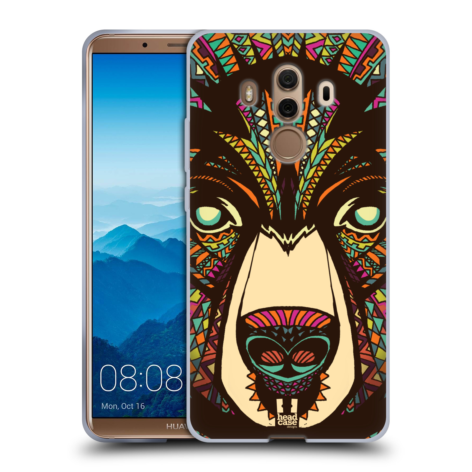Silikonové pouzdro na mobil Huawei Mate 10 Pro - Head Case - AZTEC MEDVĚD