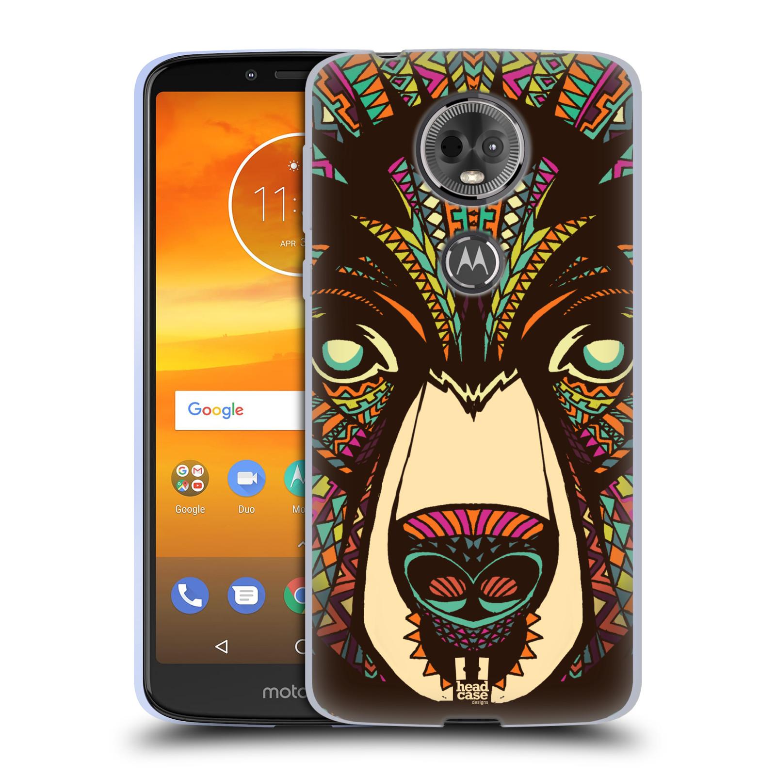 Silikonové pouzdro na mobil Motorola Moto E5 Plus - Head Case - AZTEC MEDVĚD