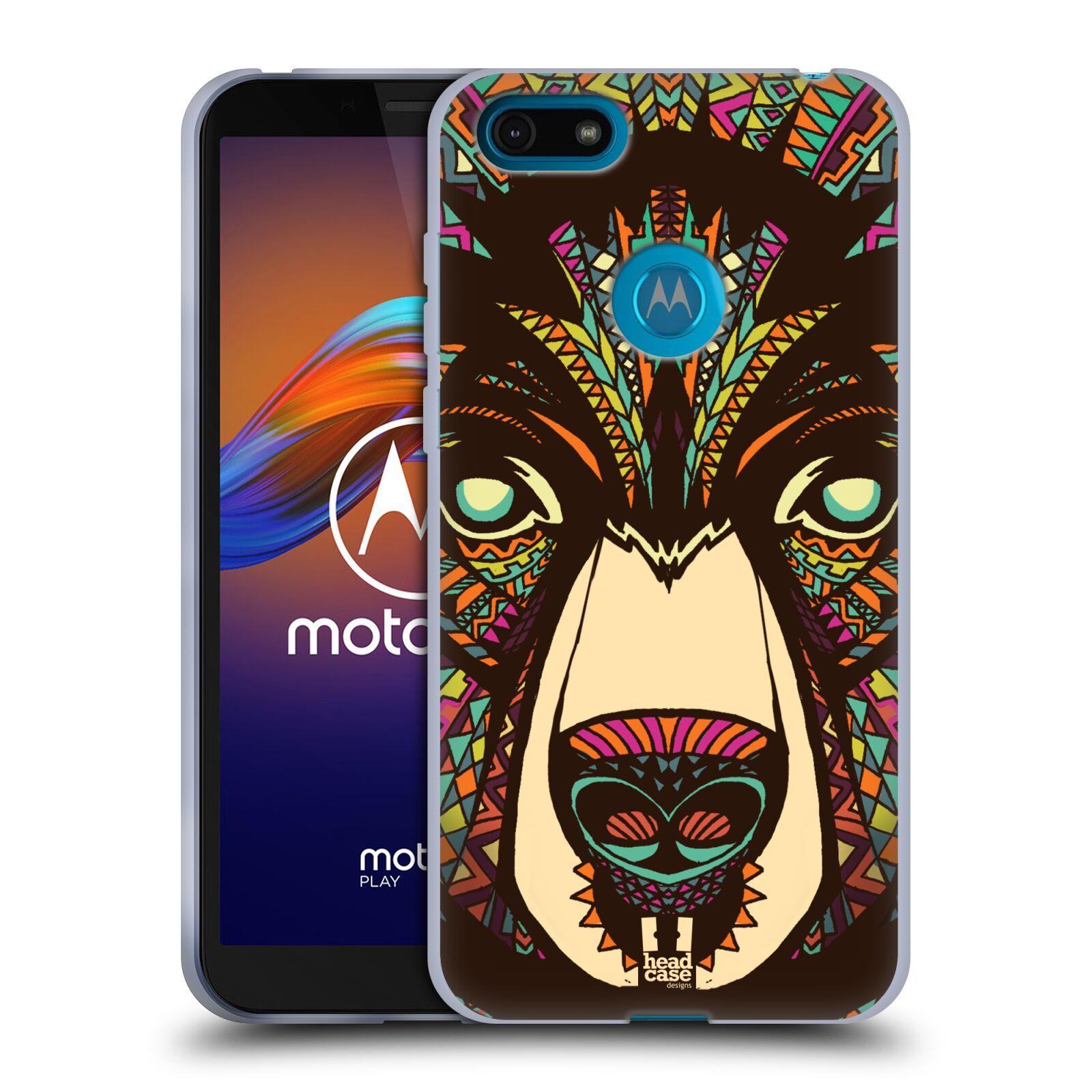 Silikonové pouzdro na mobil Motorola Moto E6 Play - Head Case - AZTEC MEDVĚD