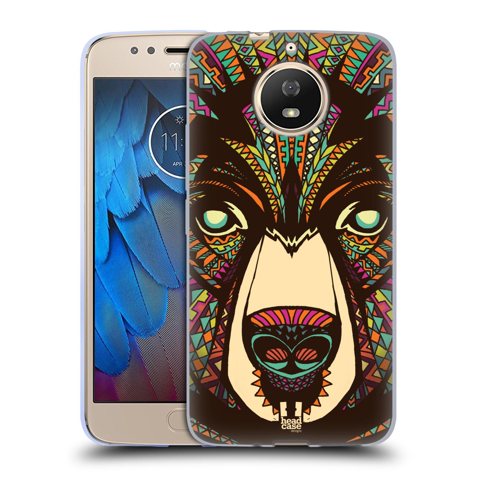 Silikonové pouzdro na mobil Lenovo Moto G5s - Head Case - AZTEC MEDVĚD