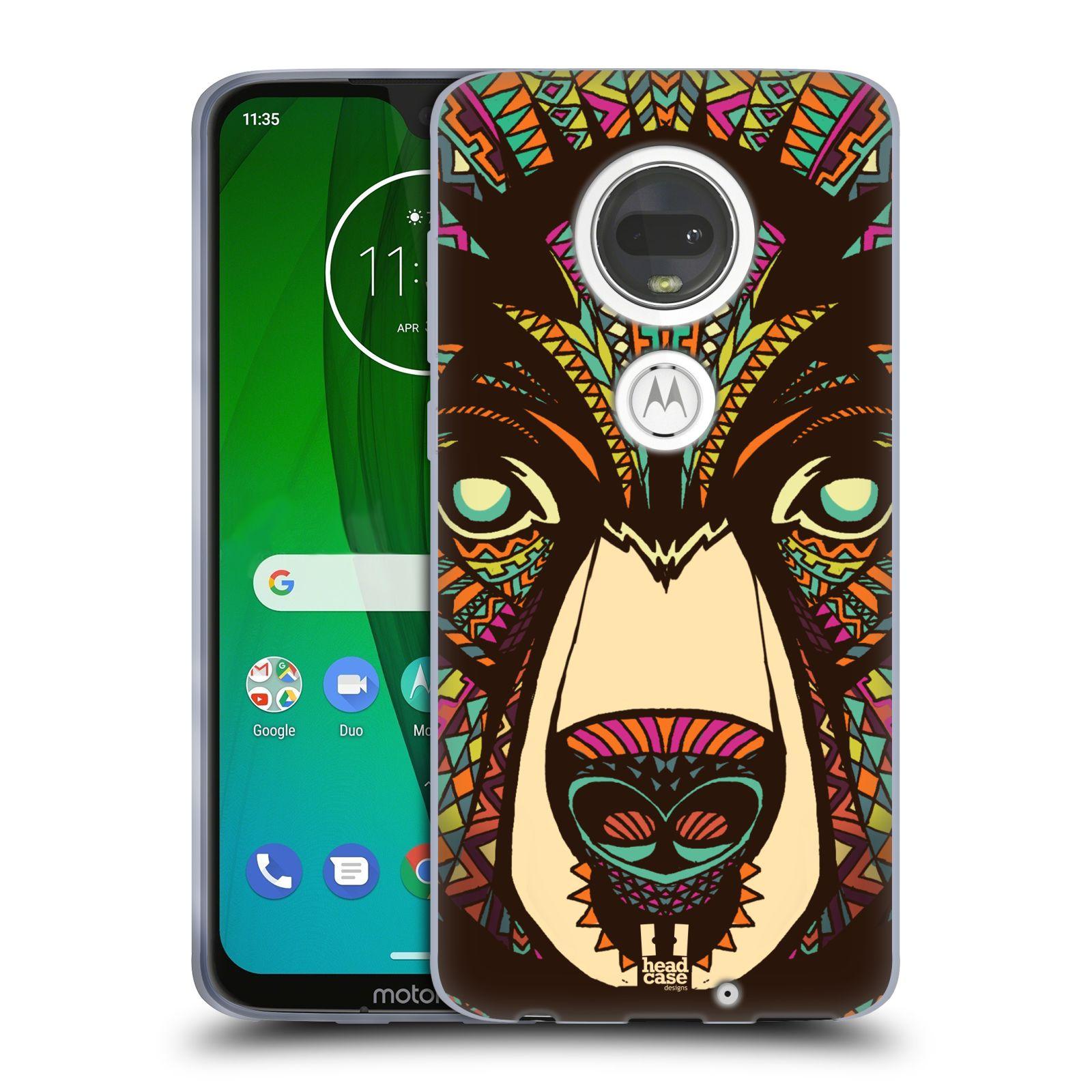 Silikonové pouzdro na mobil Motorola Moto G7 - Head Case - AZTEC MEDVĚD