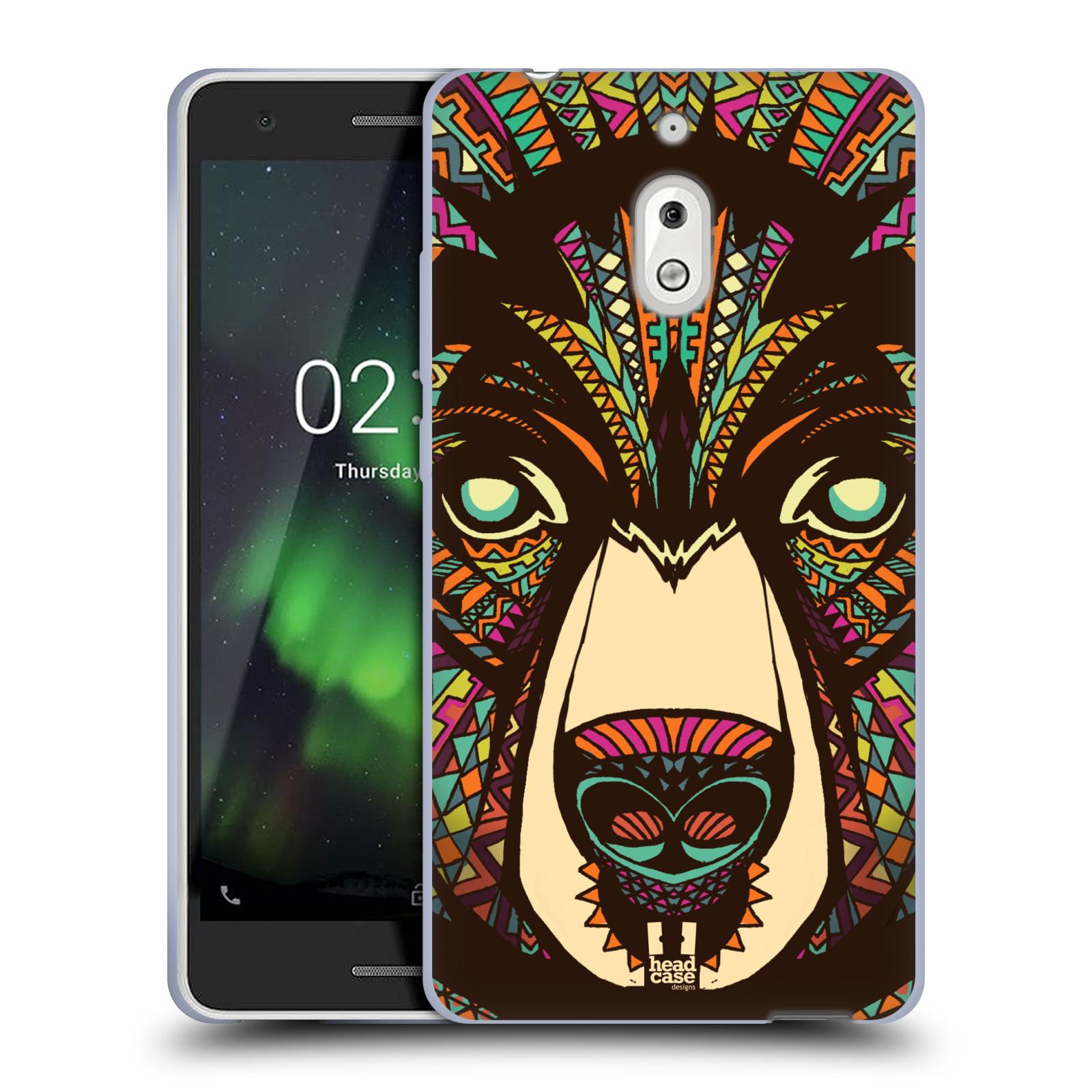 Silikonové pouzdro na mobil Nokia 2.1 - Head Case - AZTEC MEDVĚD