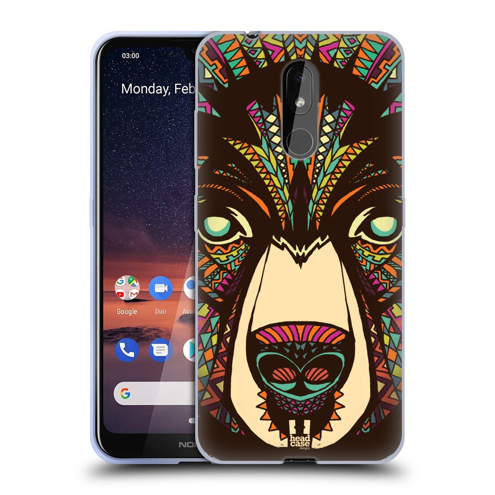 Silikonové pouzdro na mobil Nokia 3.2 - Head Case - AZTEC MEDVĚD