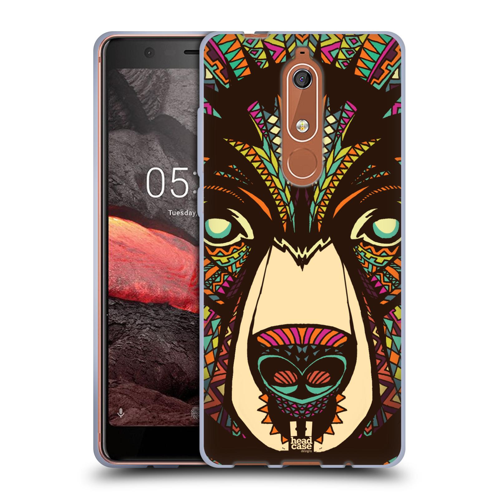 Silikonové pouzdro na mobil Nokia 5.1 - Head Case - AZTEC MEDVĚD