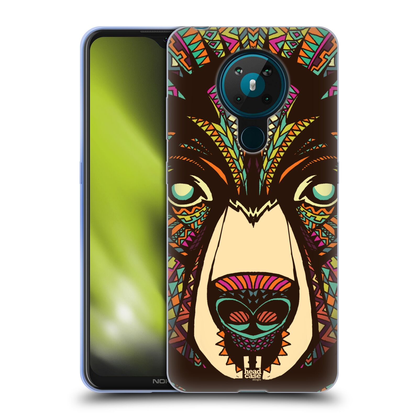 Silikonové pouzdro na mobil Nokia 5.3 - Head Case - AZTEC MEDVĚD