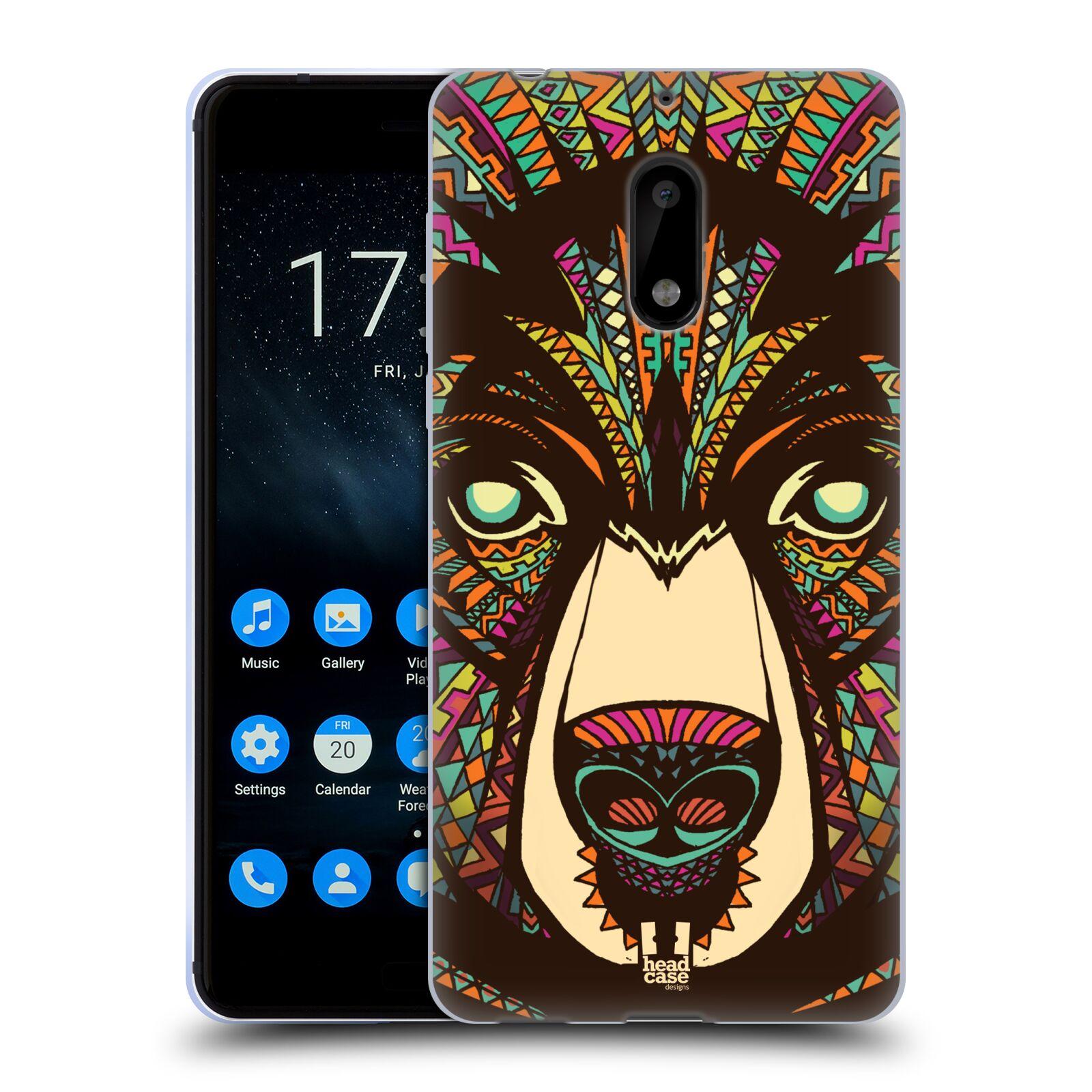 Silikonové pouzdro na mobil Nokia 6 - Head Case - AZTEC MEDVĚD